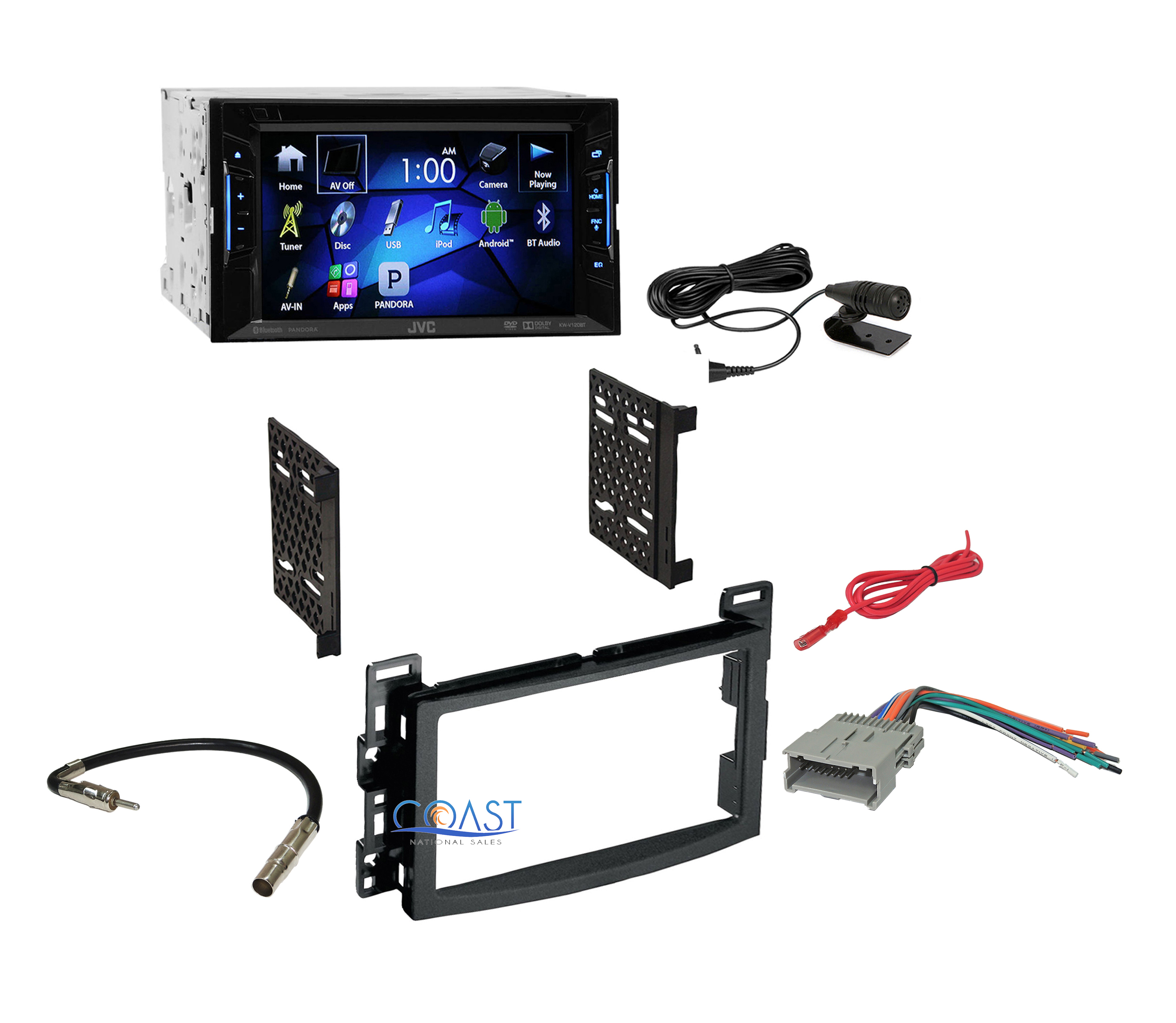 jvc car radio stereo double din dash kit harness for chevy. Black Bedroom Furniture Sets. Home Design Ideas