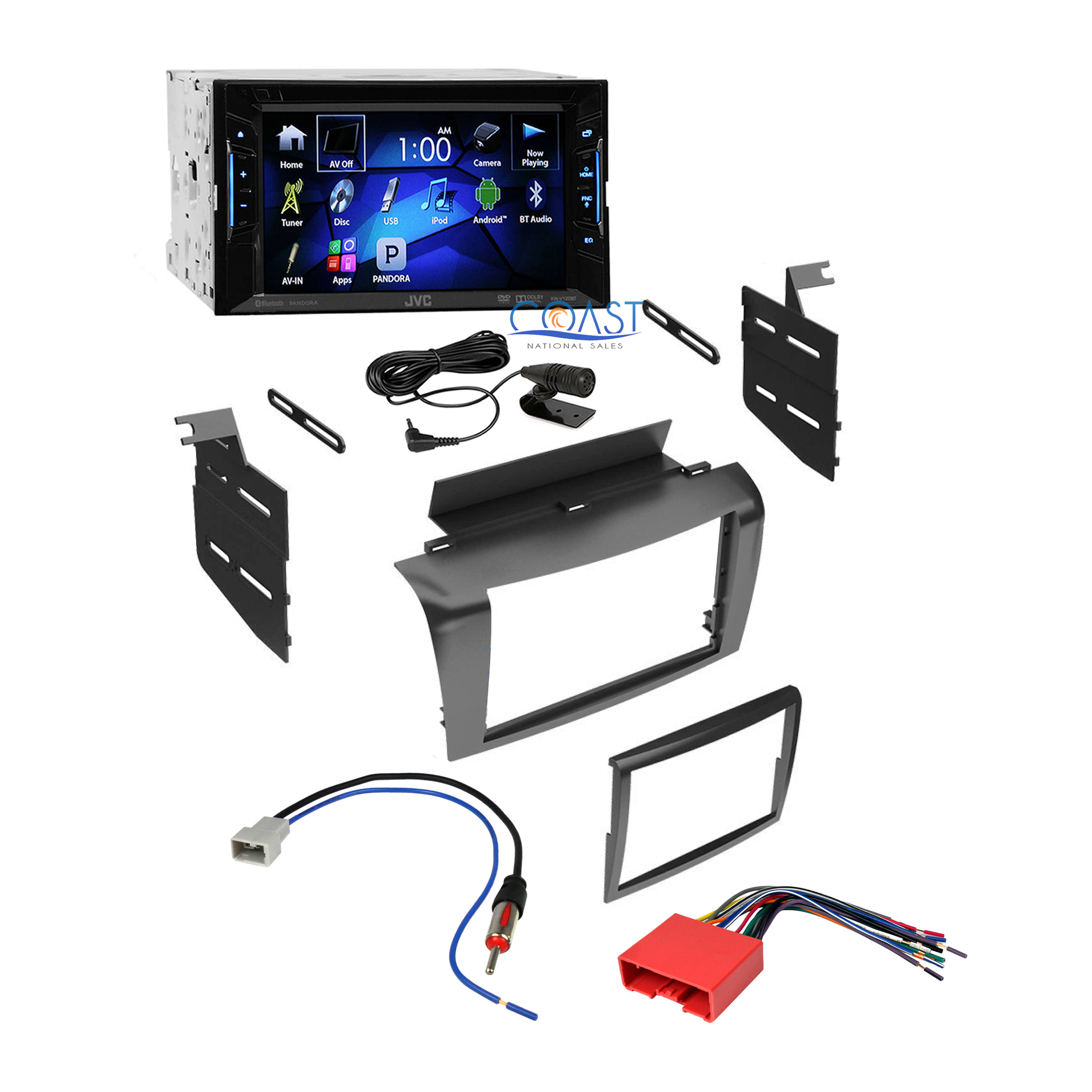 jvc car radio stereo double din dash kit wire harness for. Black Bedroom Furniture Sets. Home Design Ideas