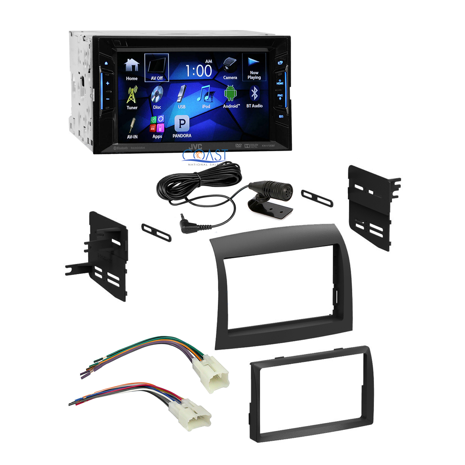 jvc car radio stereo double din dash kit harness for 2004. Black Bedroom Furniture Sets. Home Design Ideas