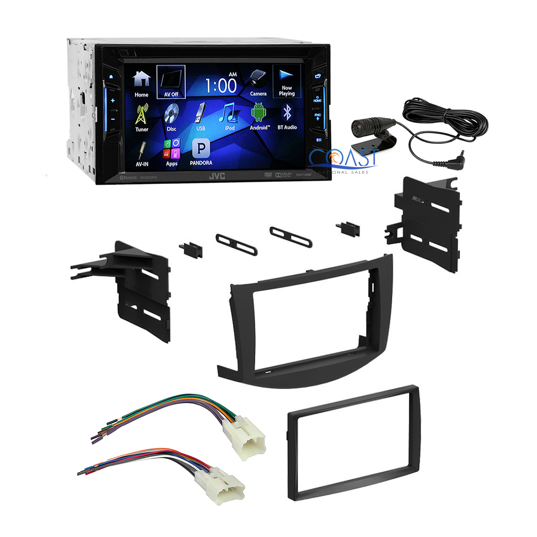 jvc car radio stereo double din dash kit harness for 2006. Black Bedroom Furniture Sets. Home Design Ideas