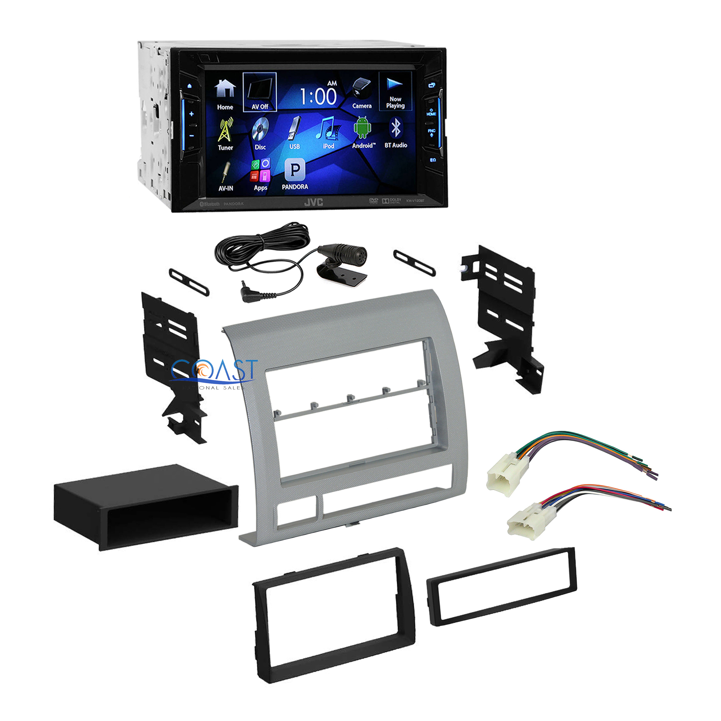 jvc car radio stereo double din dash kit harness for 2005. Black Bedroom Furniture Sets. Home Design Ideas