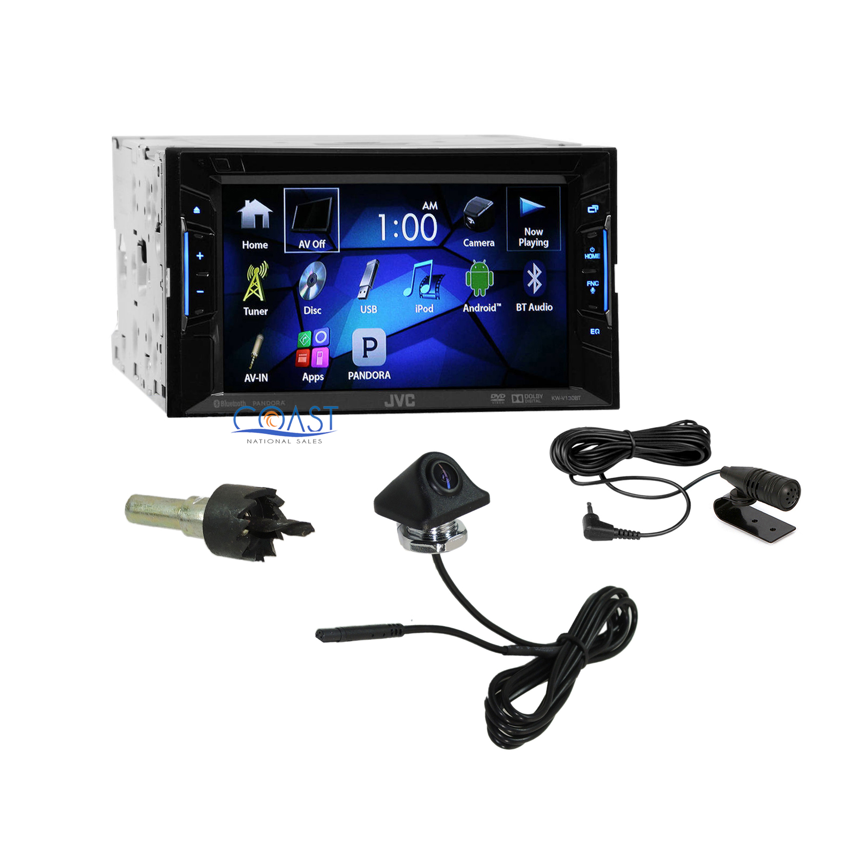 jvc 6 2 touchscreen car radio bluetooth audio receiver. Black Bedroom Furniture Sets. Home Design Ideas