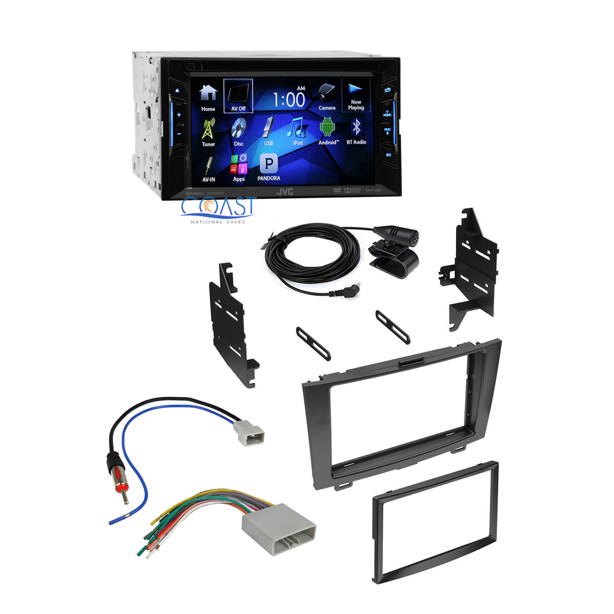 jvc car radio stereo double din dash kit harness for 2007. Black Bedroom Furniture Sets. Home Design Ideas