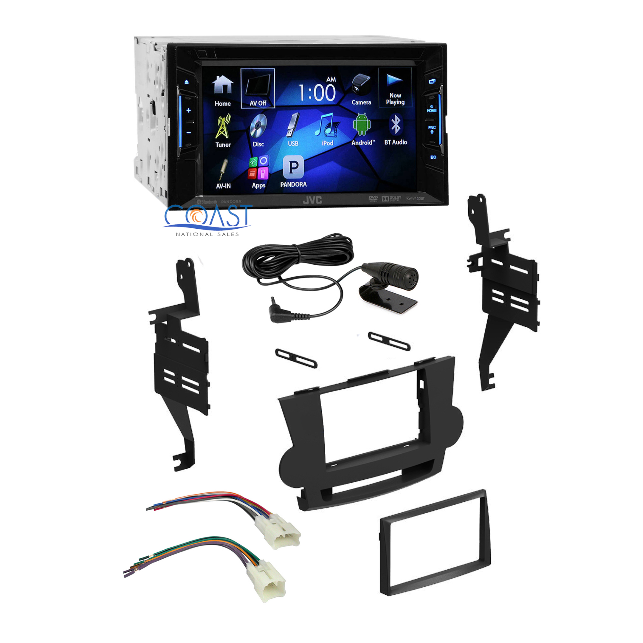 jvc car radio stereo double din dash kit harness for 2008. Black Bedroom Furniture Sets. Home Design Ideas