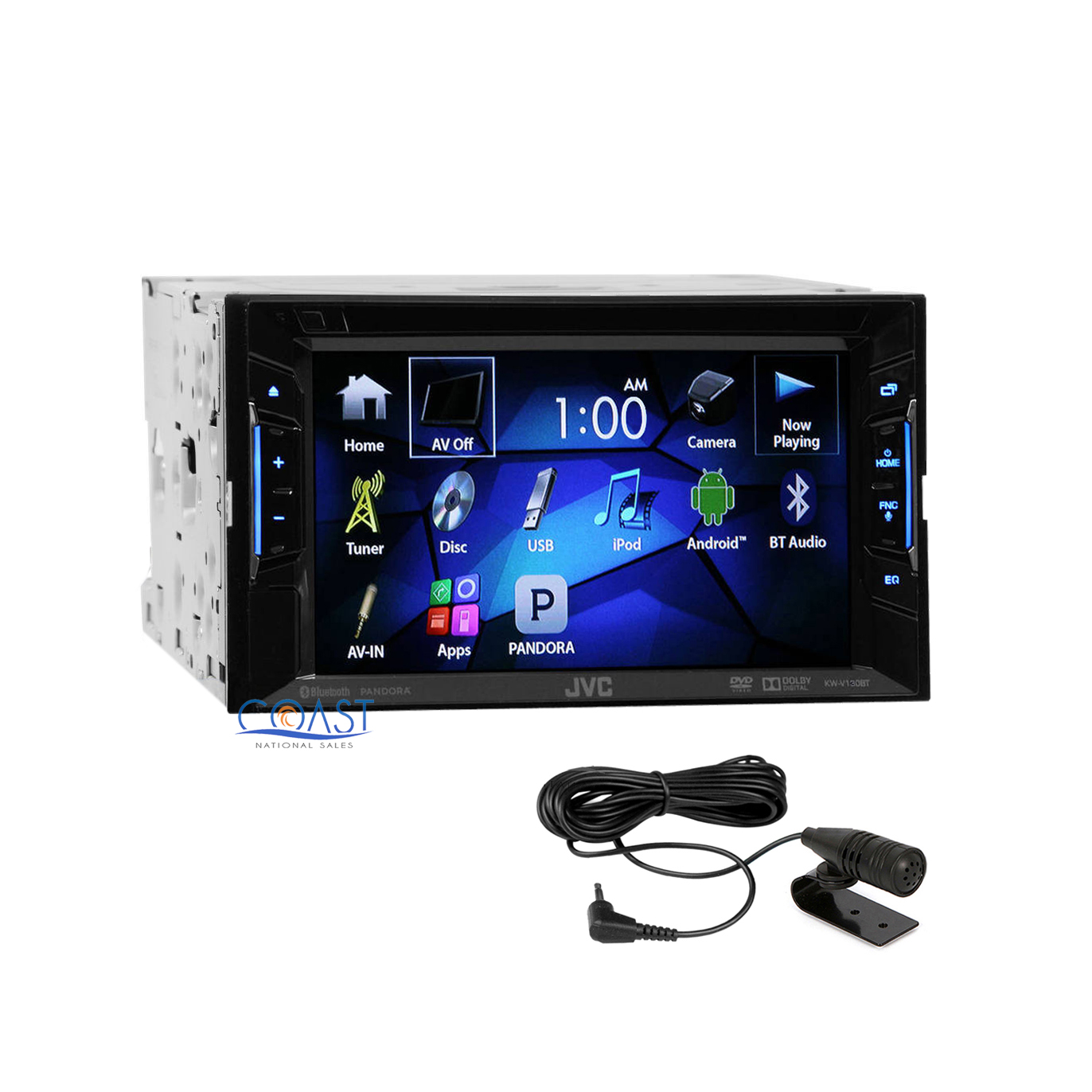 jvc 6 2 touchscreen double din car radio mp3 aux bluetooth audio receiver ebay. Black Bedroom Furniture Sets. Home Design Ideas