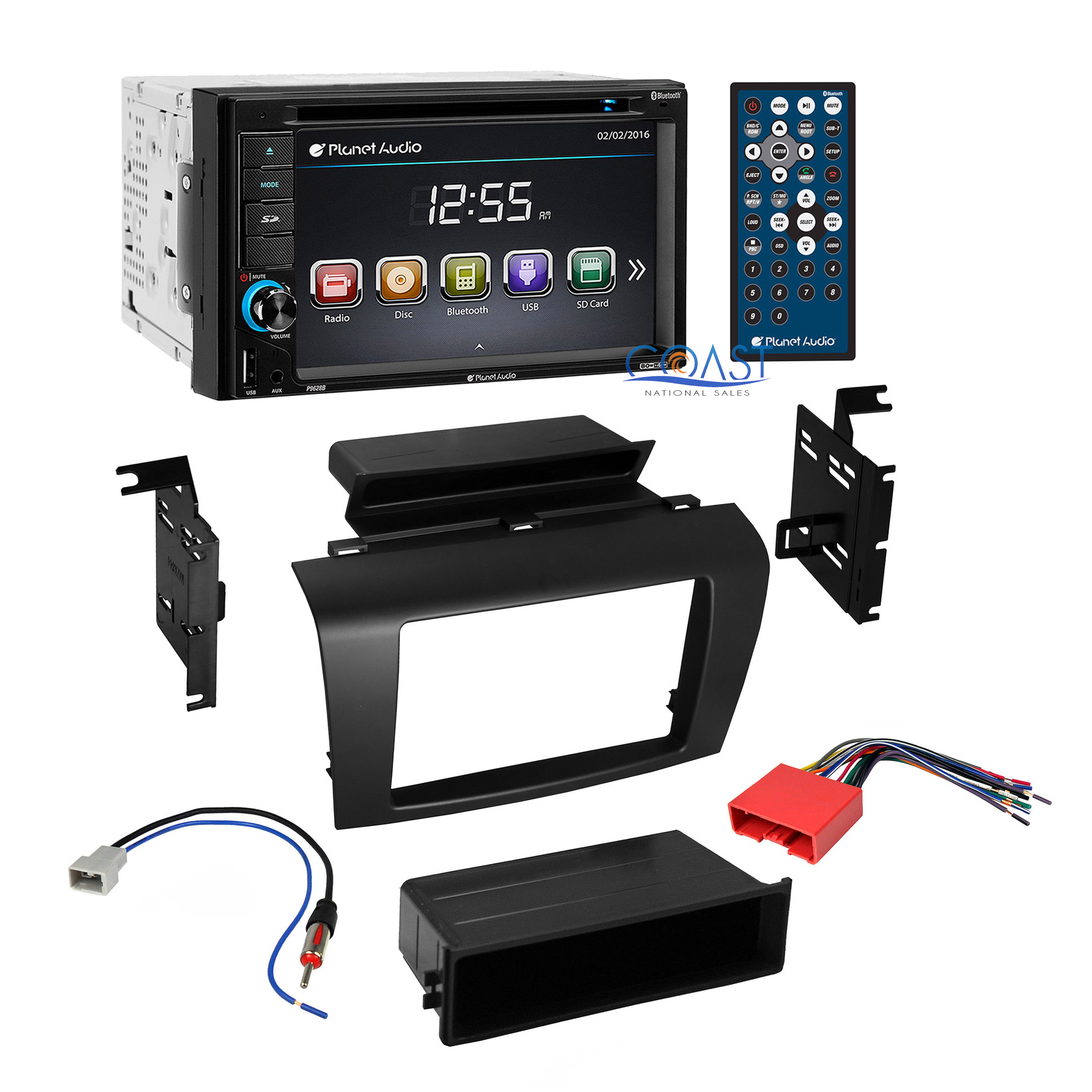 planet audio bluetooth car stereo dash kit wire harness for 2004 2009 mazda 3 ebay