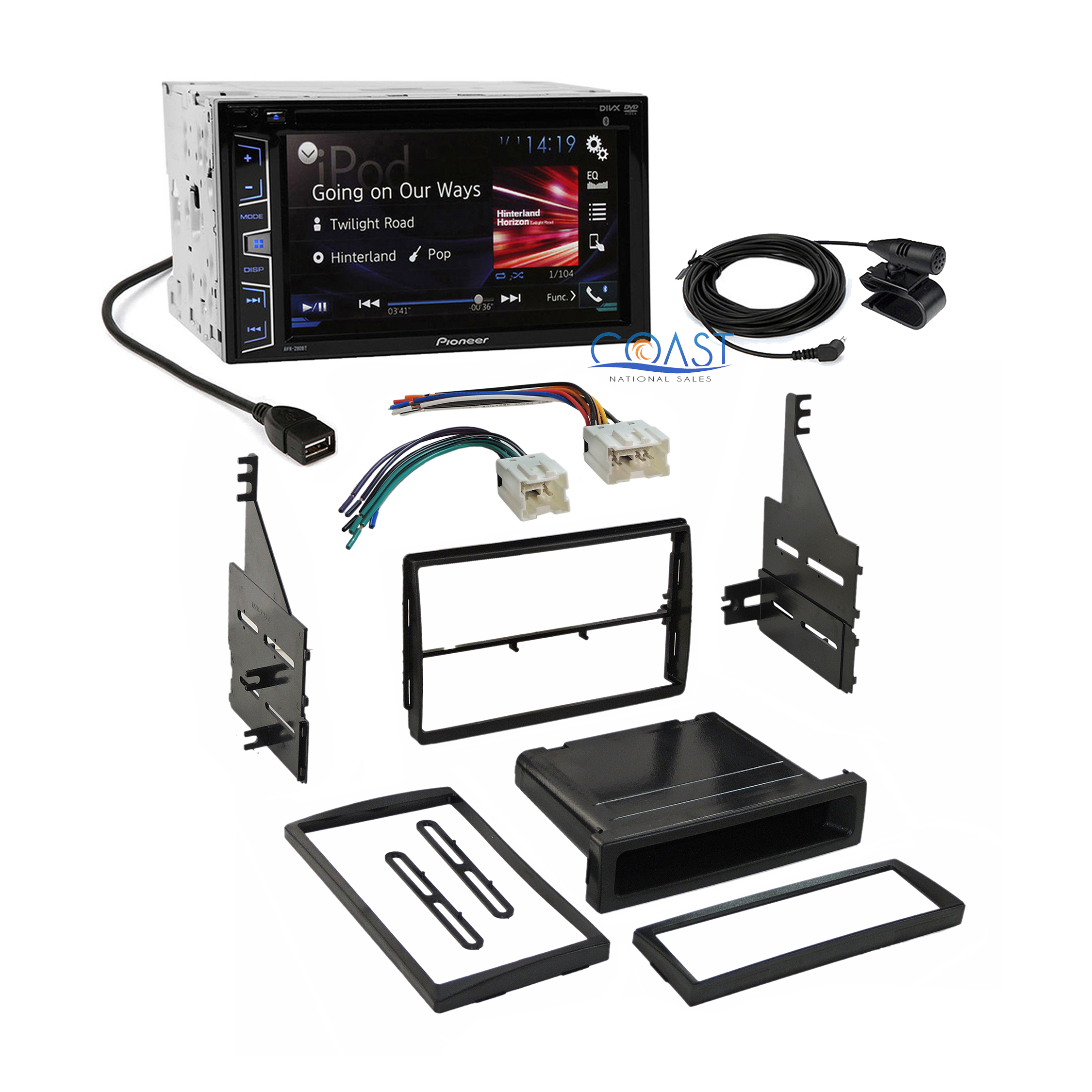 Pioneer Radio Stereo Dash Kit Wire Harness Antenna For