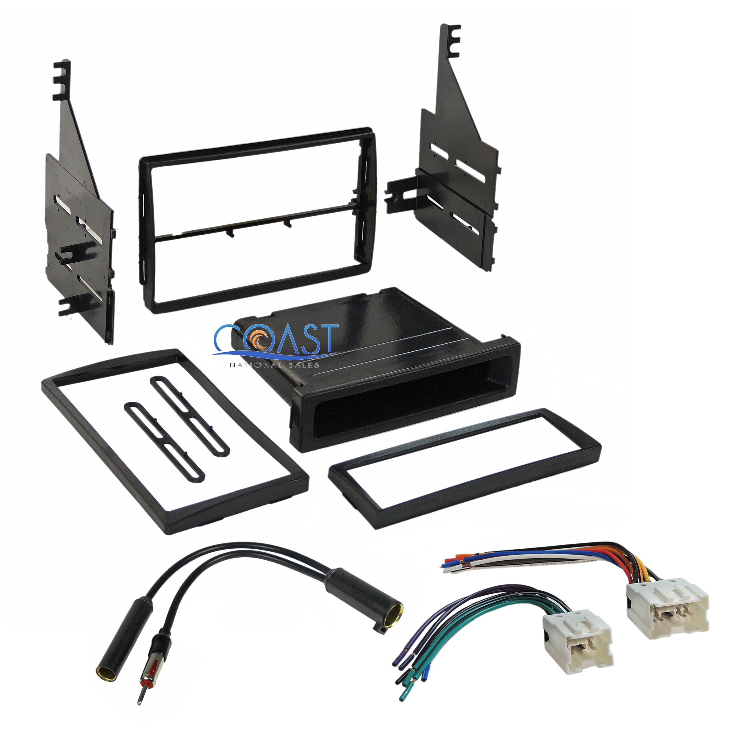 car stereo single din dash kit wire harness for 2005 2006 nissan altima ebay