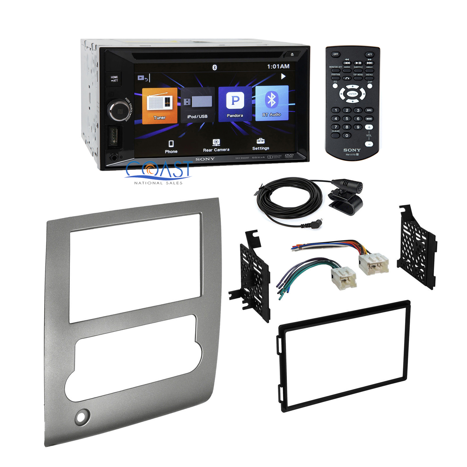 Sony Car Radio Stereo + Double DIN Dash Kit Wire Harness