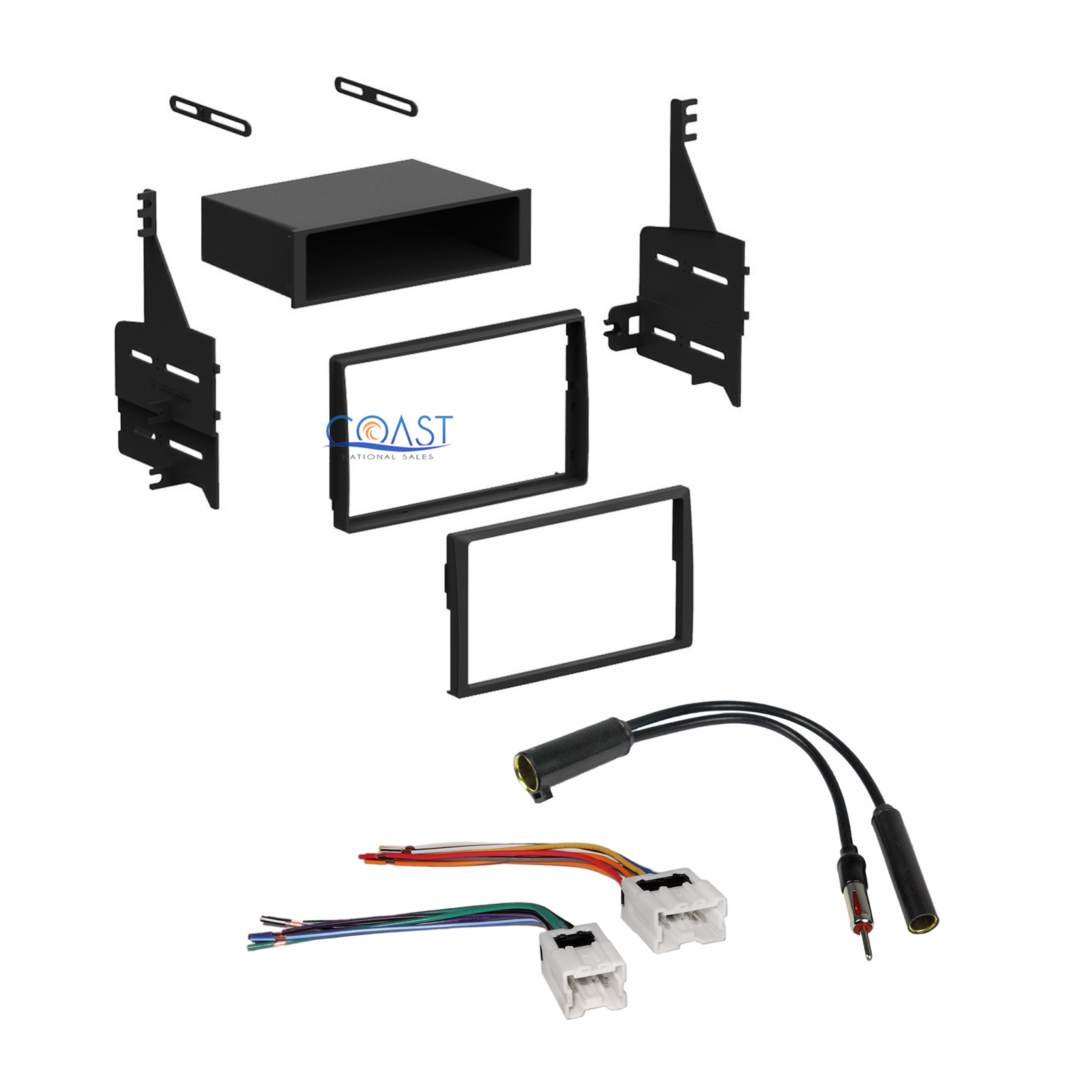 single double din stereo dash kit harness antenna for 2005. Black Bedroom Furniture Sets. Home Design Ideas