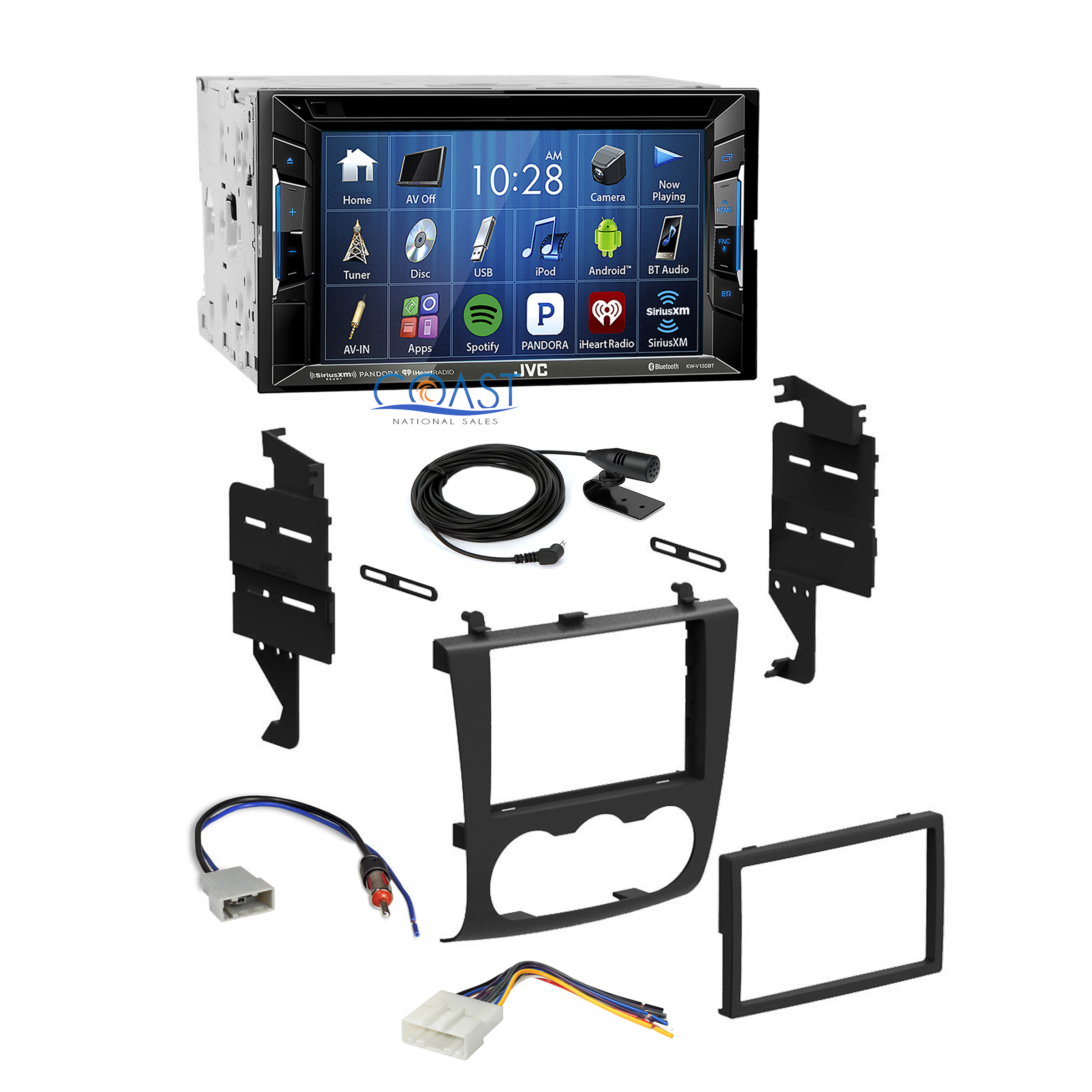 jvc car bluetooth stereo double din dash kit harness for. Black Bedroom Furniture Sets. Home Design Ideas