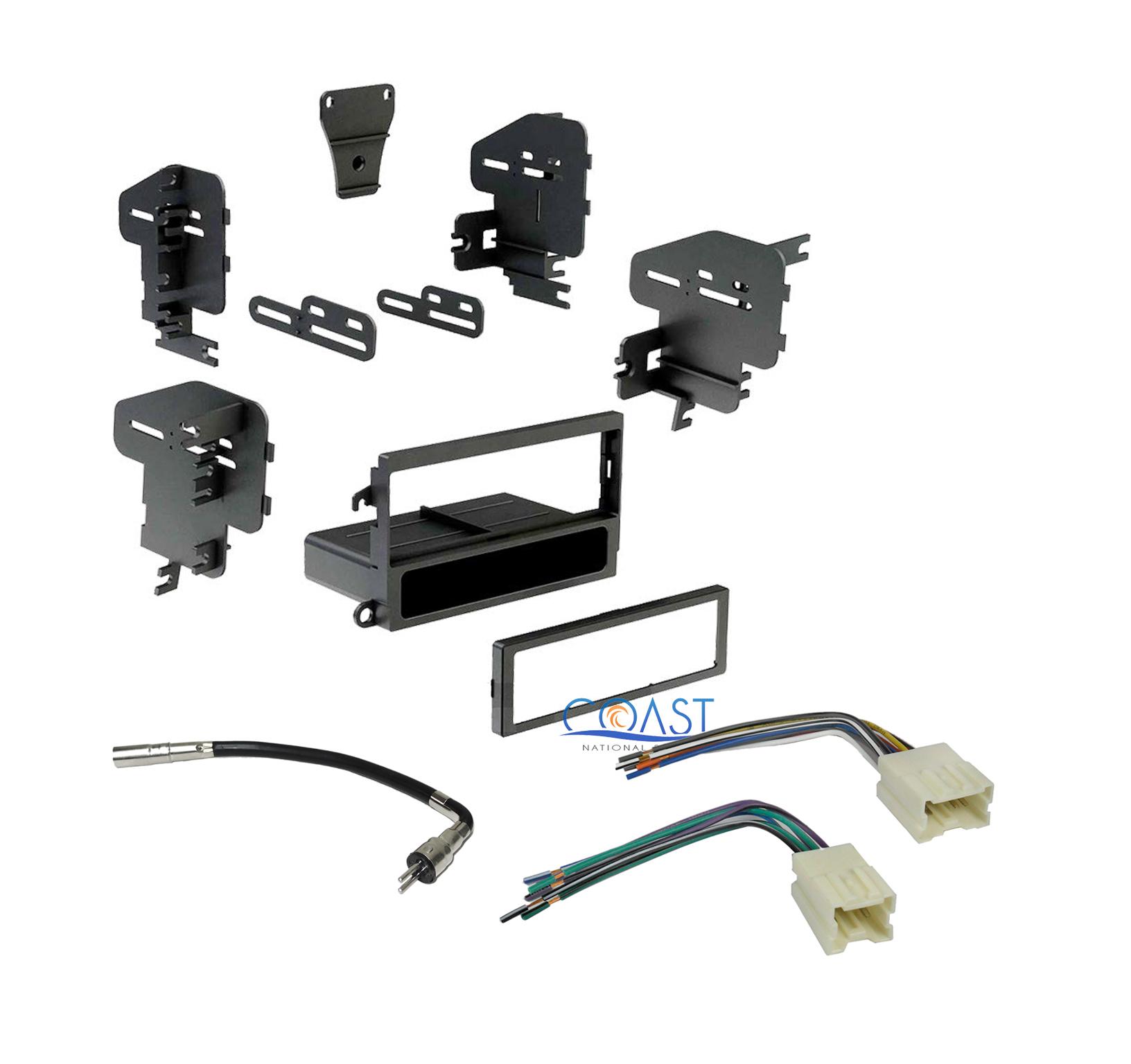single din car radio stereo dash kit wire harness antenna