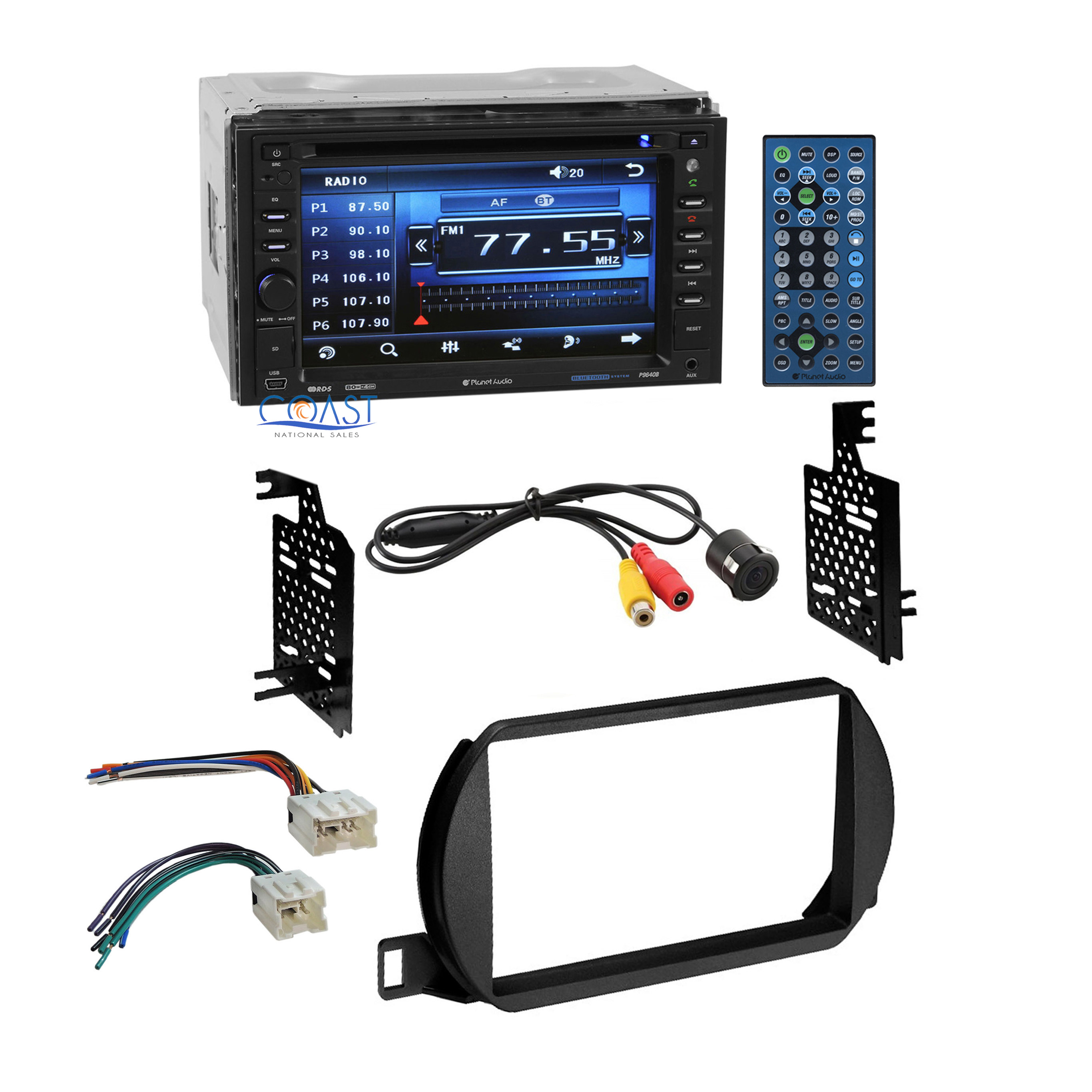 planet audio car stereo 2 din dash kit wire harness for 2002 04 nissan altima ebay