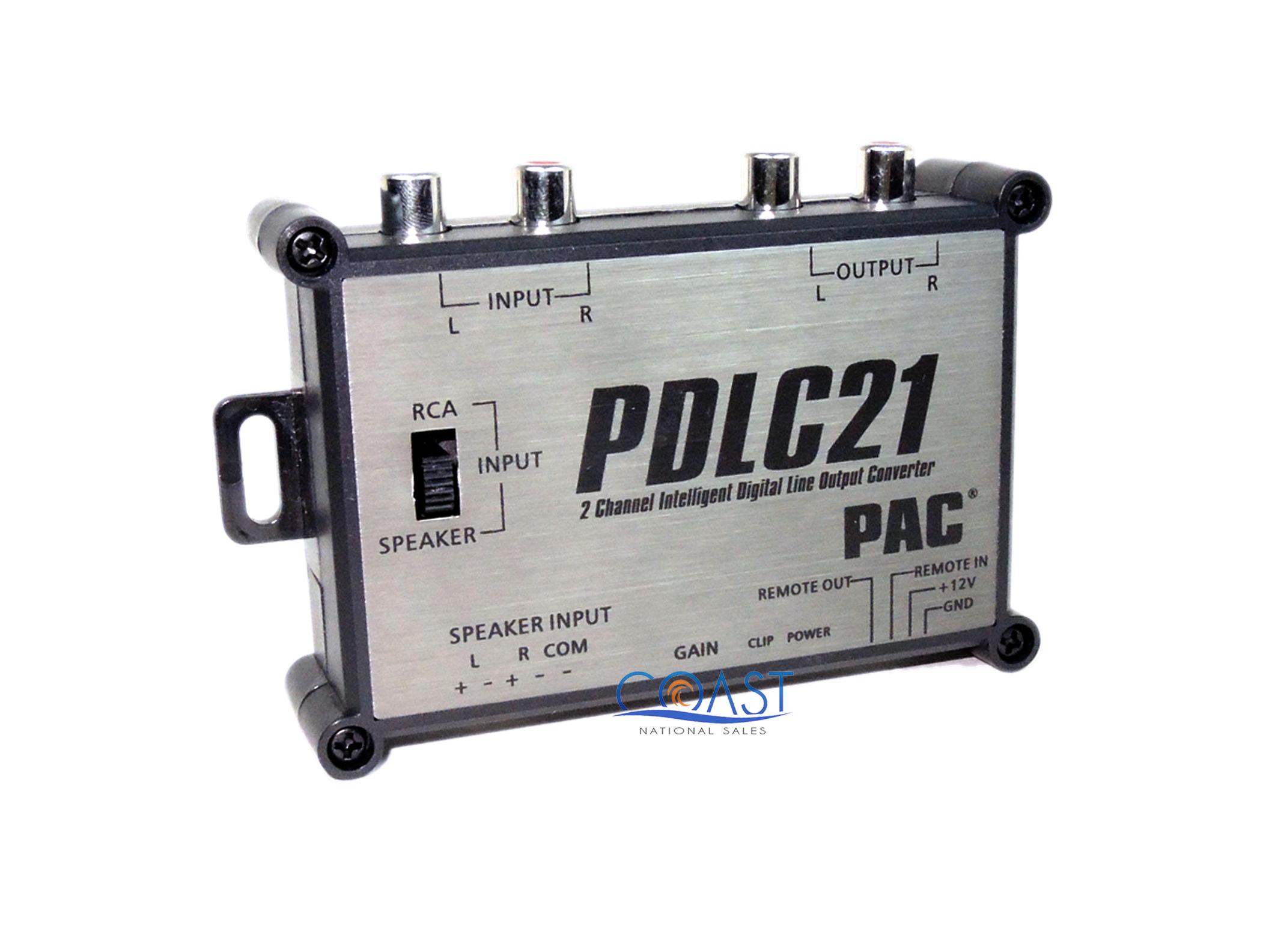 pac pdlc21 2 channel digital line 10v rca output converter for additional amp ebay