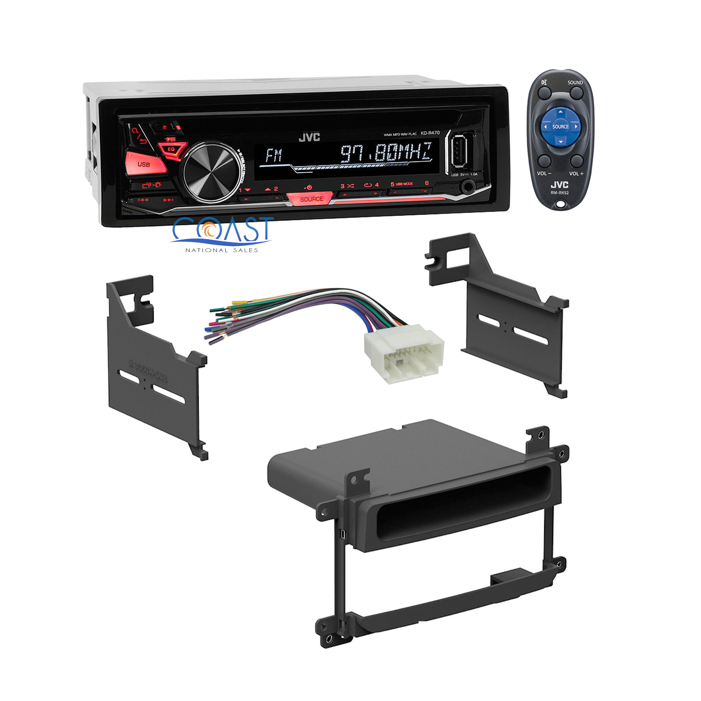 Jvc Radio Stereo Dash Kit Harness For 2003