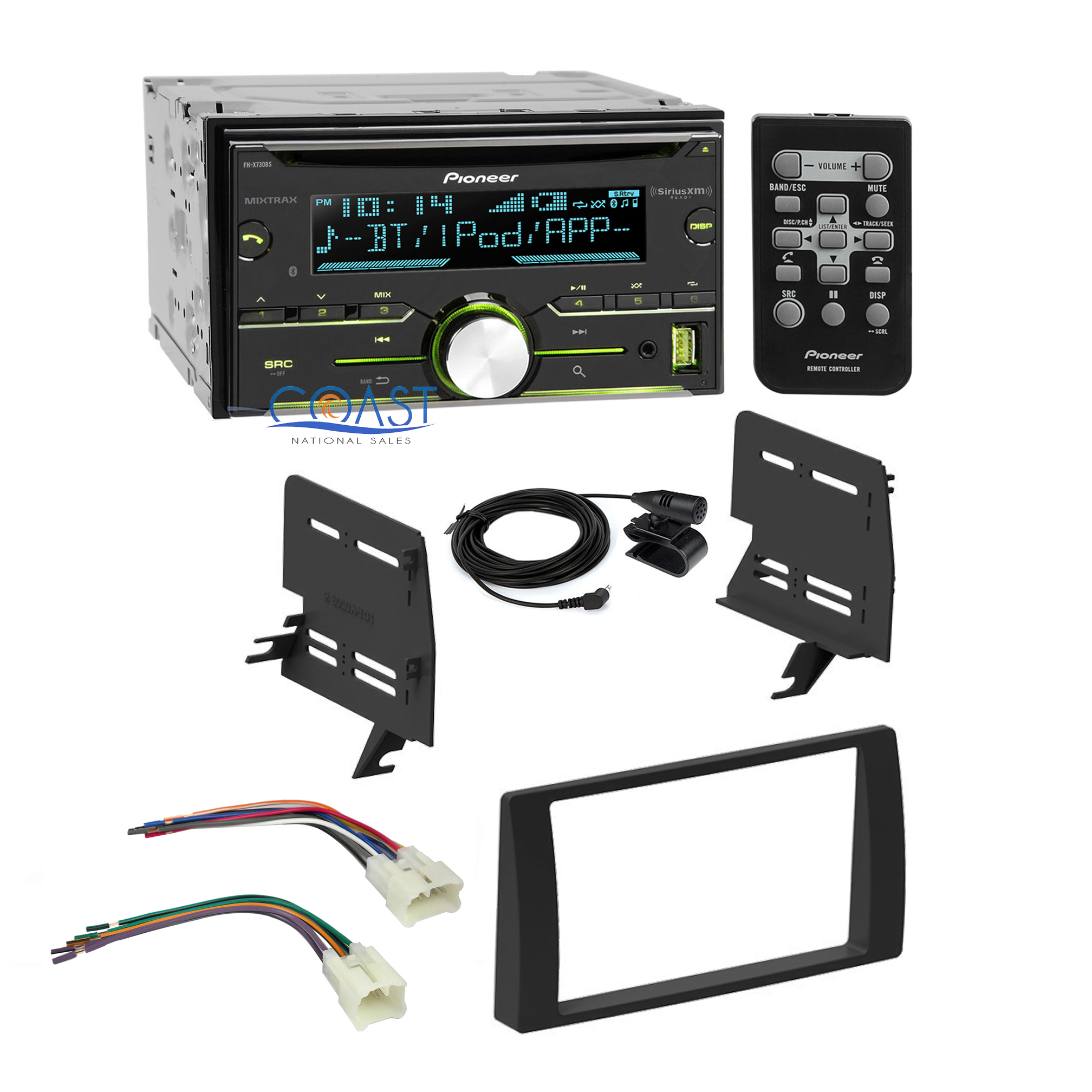 pioneer car sirius xm stereo 2 din dash kit harness for 2002 2006 toyota camry ebay. Black Bedroom Furniture Sets. Home Design Ideas