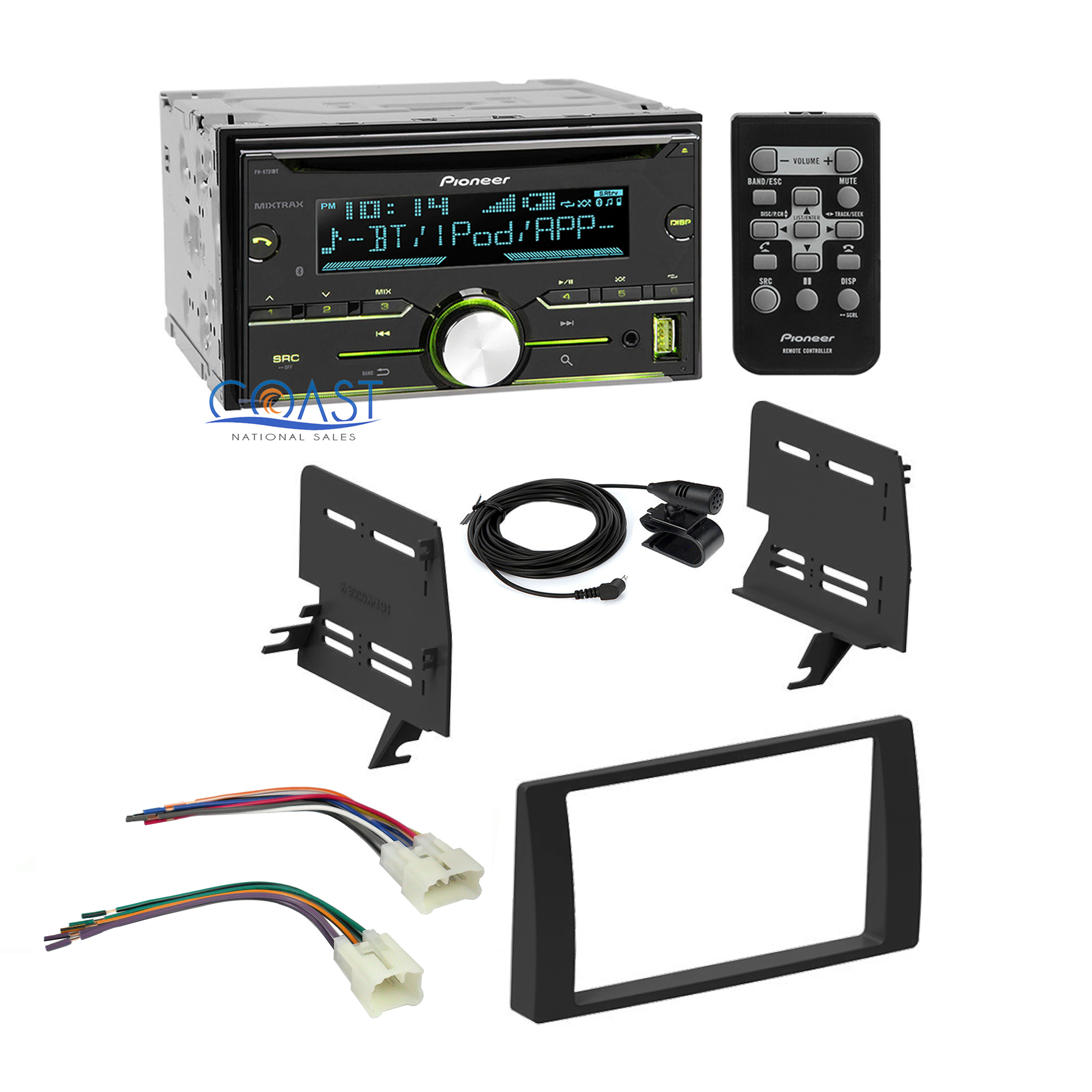 pioneer car radio stereo double din dash kit harness for 2002 2006 toyota cam. Black Bedroom Furniture Sets. Home Design Ideas