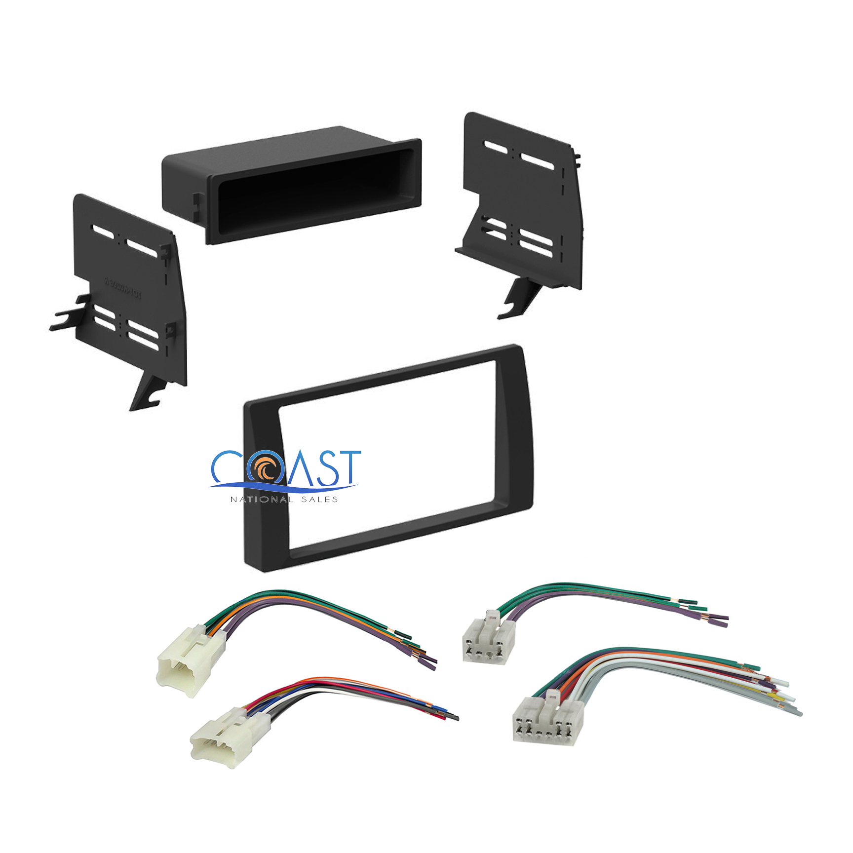 car stereo single double din dash kit harness combo for. Black Bedroom Furniture Sets. Home Design Ideas
