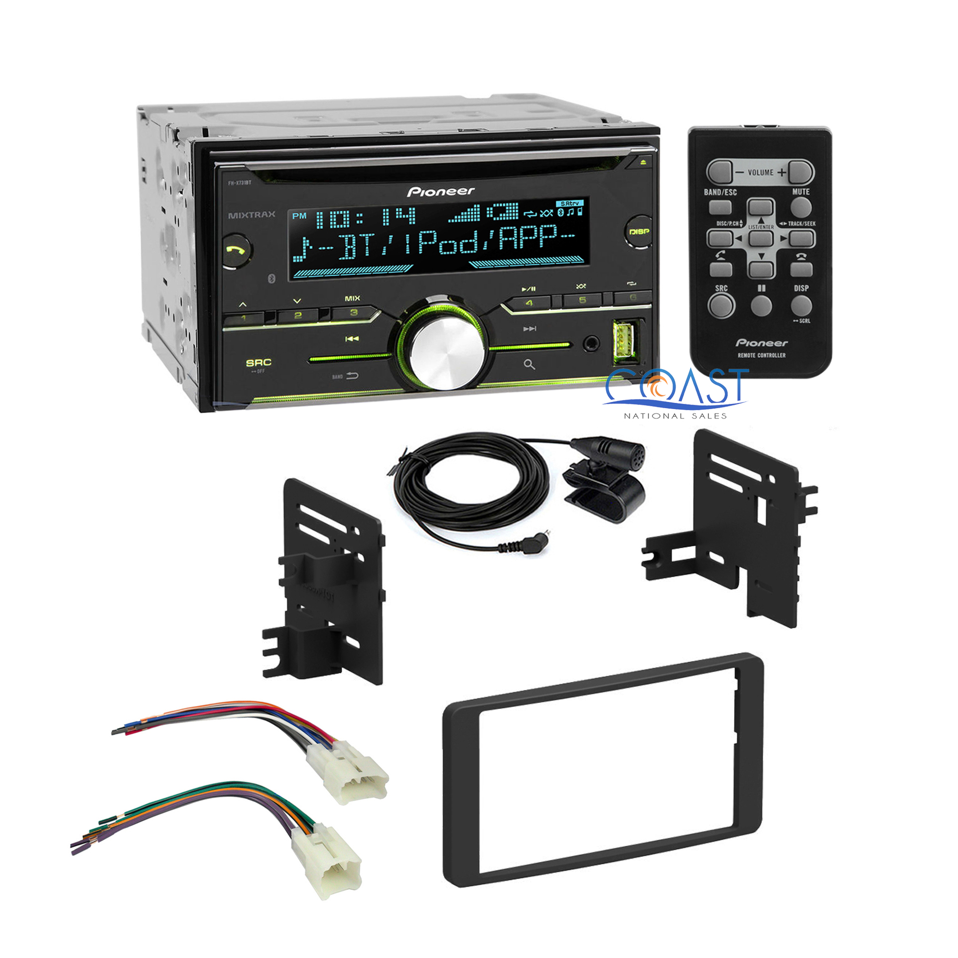 Pioneer radio stereo dash kit wire harness for