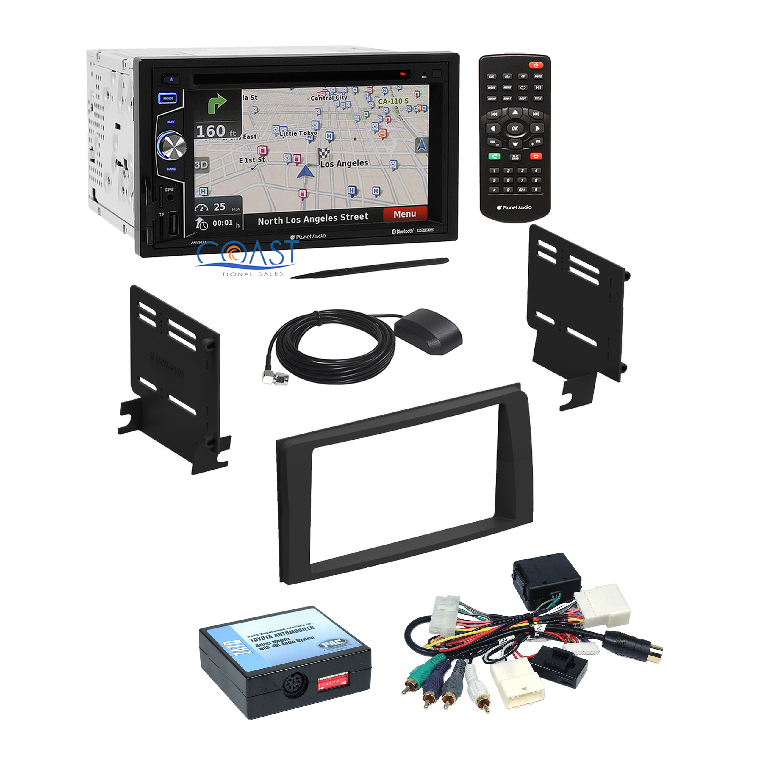 planet audio radio stereo dash kit jbl wire interface for 03 09 toyota 4 runner ebay