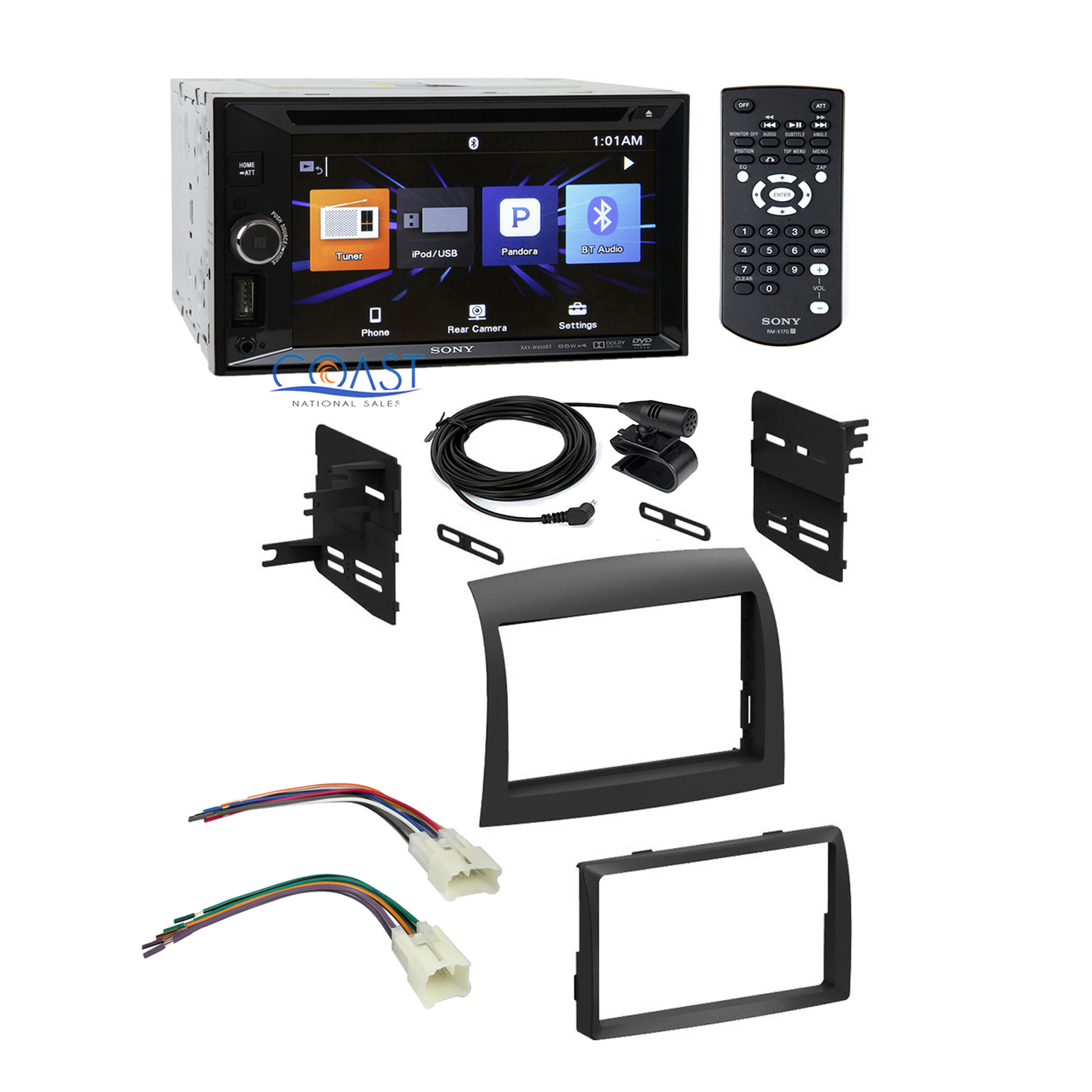 sony car radio din dash kit wire harness for 2004 2010 toyota
