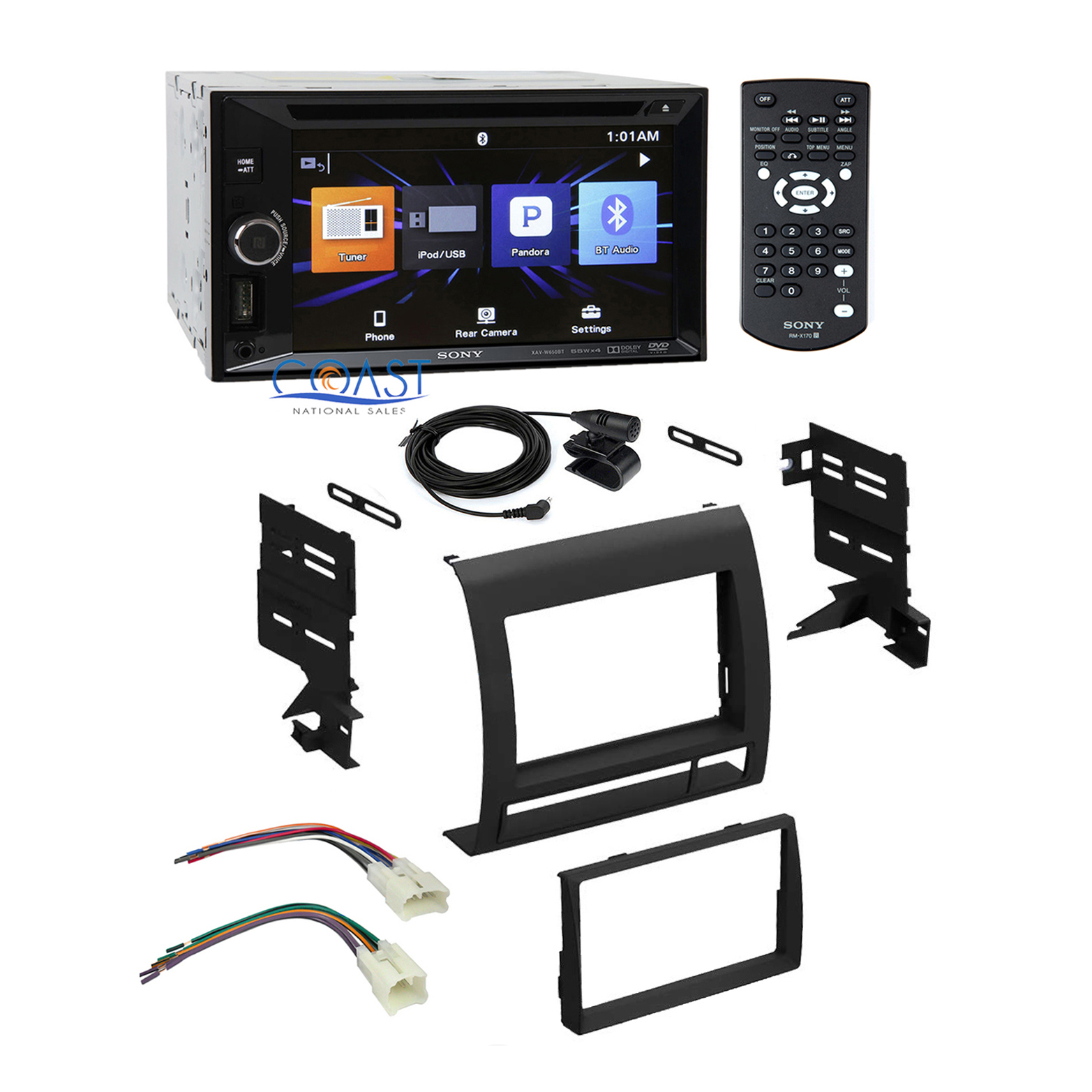sony radio stereo din dash kit wire harness for toyota tacoma 2005 2011