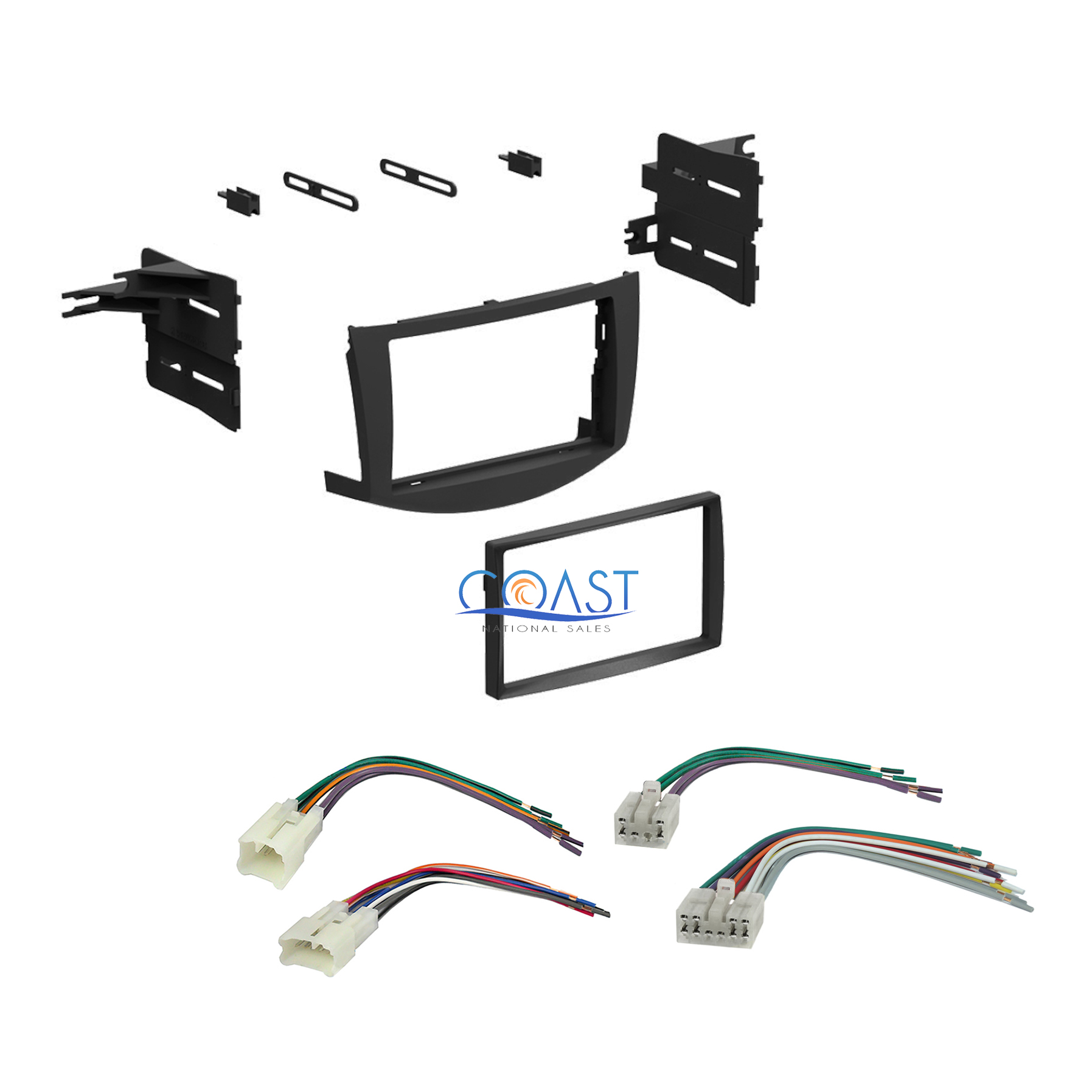 single din car stereo dash kit harness combo for 2006 2011 toyota rav4 ebay
