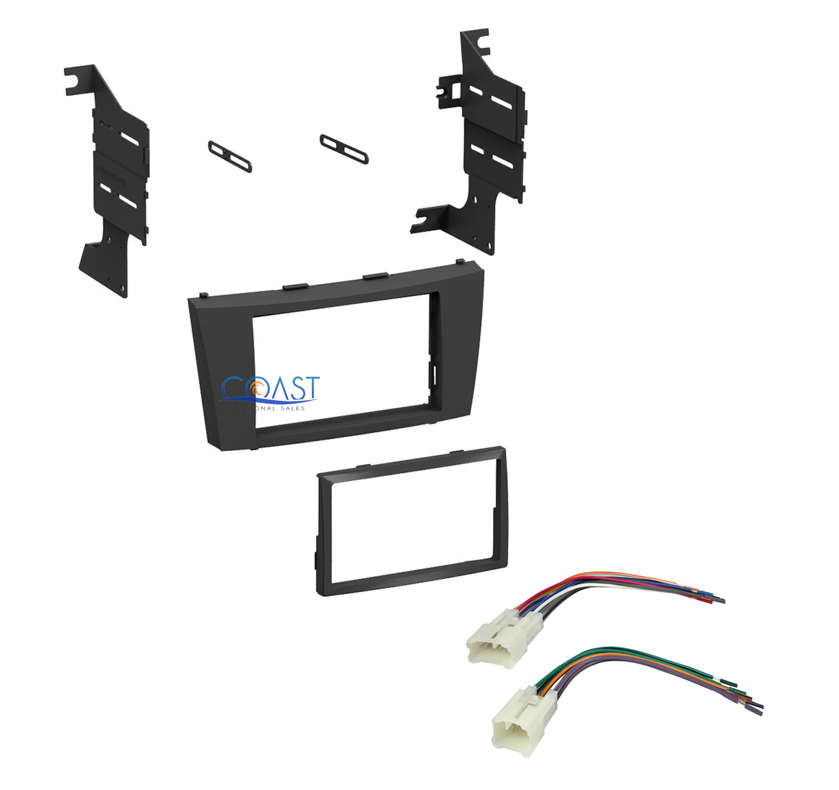 single double din stereo car dash kit w harness for 2007. Black Bedroom Furniture Sets. Home Design Ideas