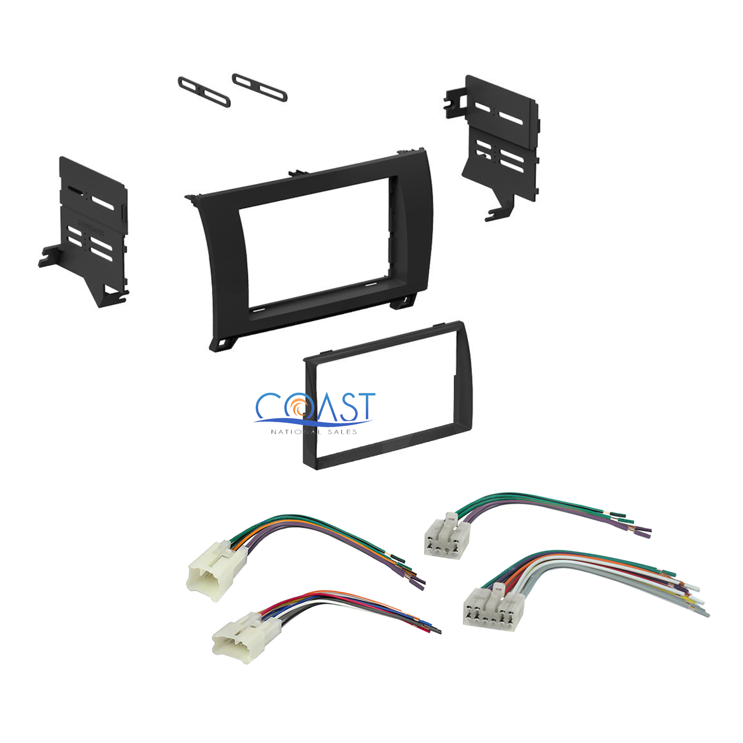 single double din car dash kit harness set for 2007 2012 Toyota Factory Stereo Wiring Diagrams Toyota Engine Wiring Harness