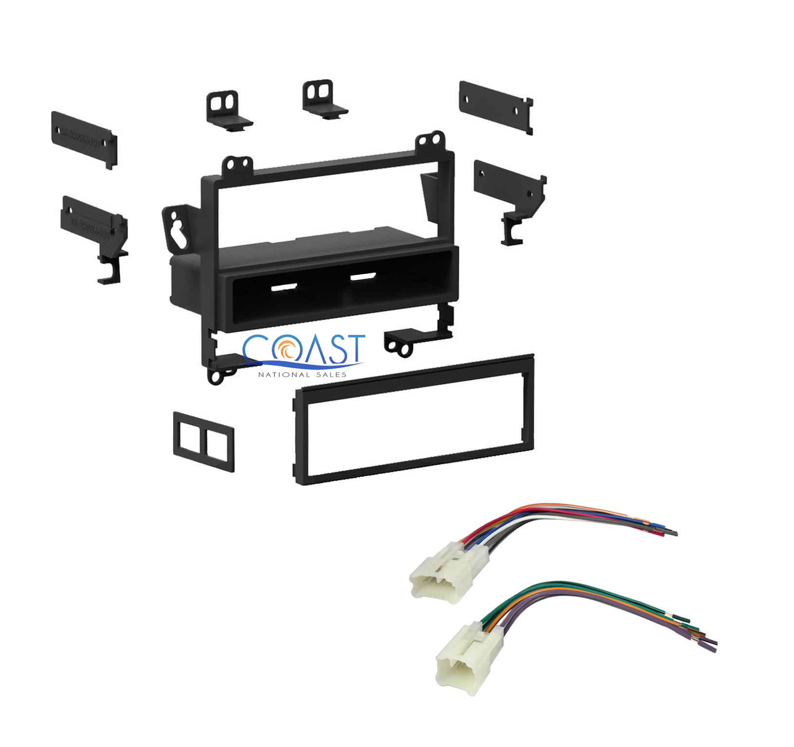 single din car radio stereo dash kit wire harness for 1993 2002 toyota corolla ebay. Black Bedroom Furniture Sets. Home Design Ideas