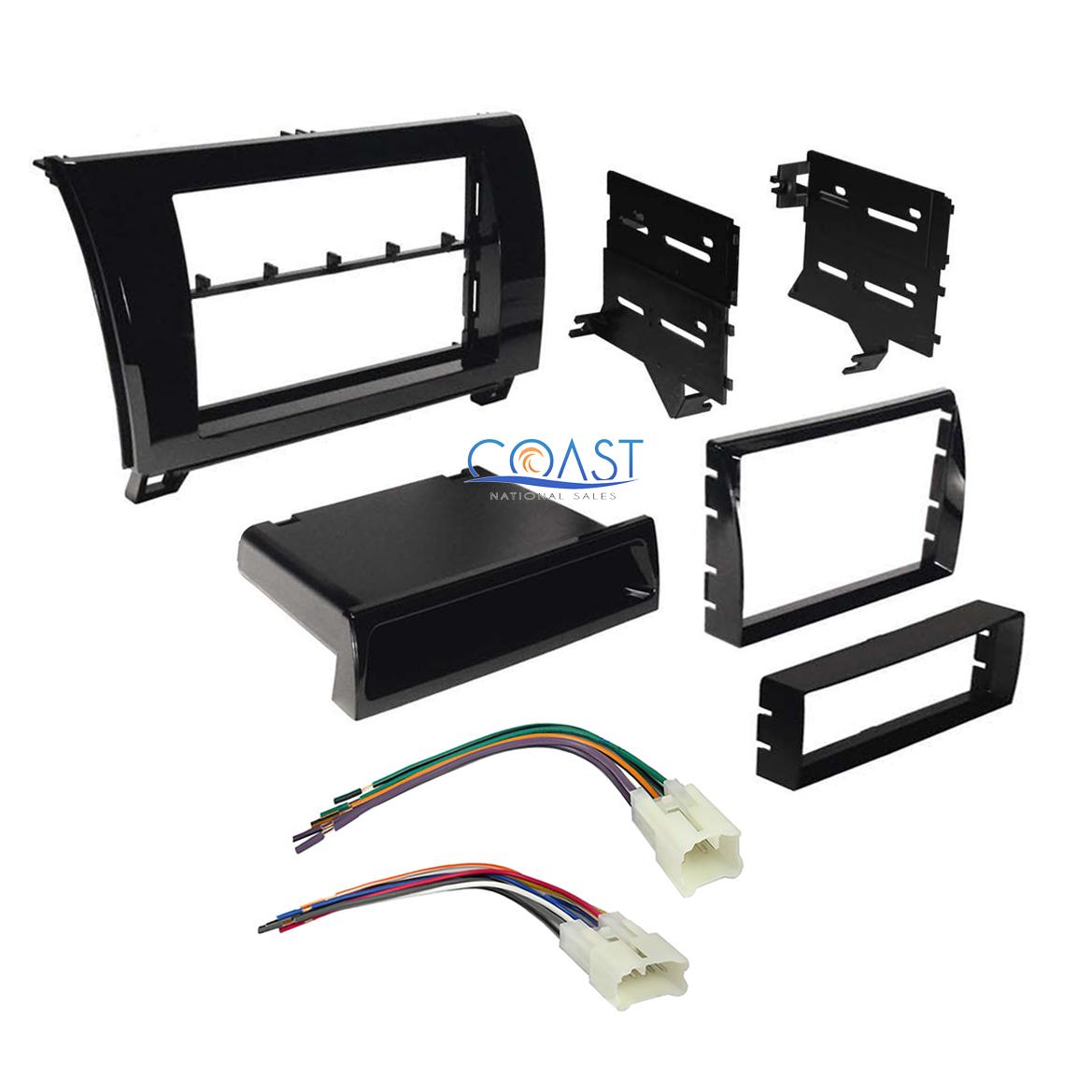 car radio gloss black dash kit harness for 2007 2013. Black Bedroom Furniture Sets. Home Design Ideas