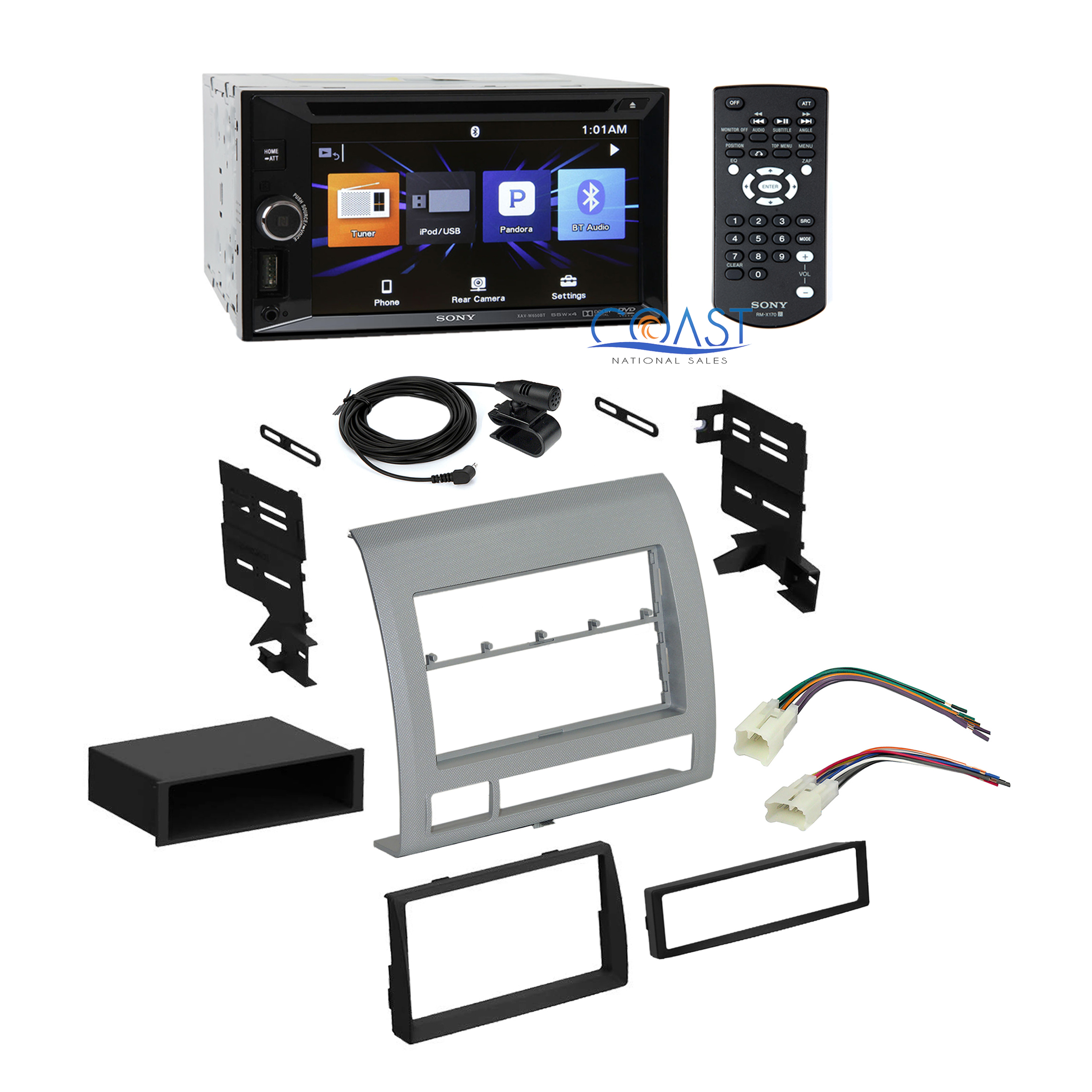 Sony Car Radio Stereo Double DIN Dash Kit Harness For 2005