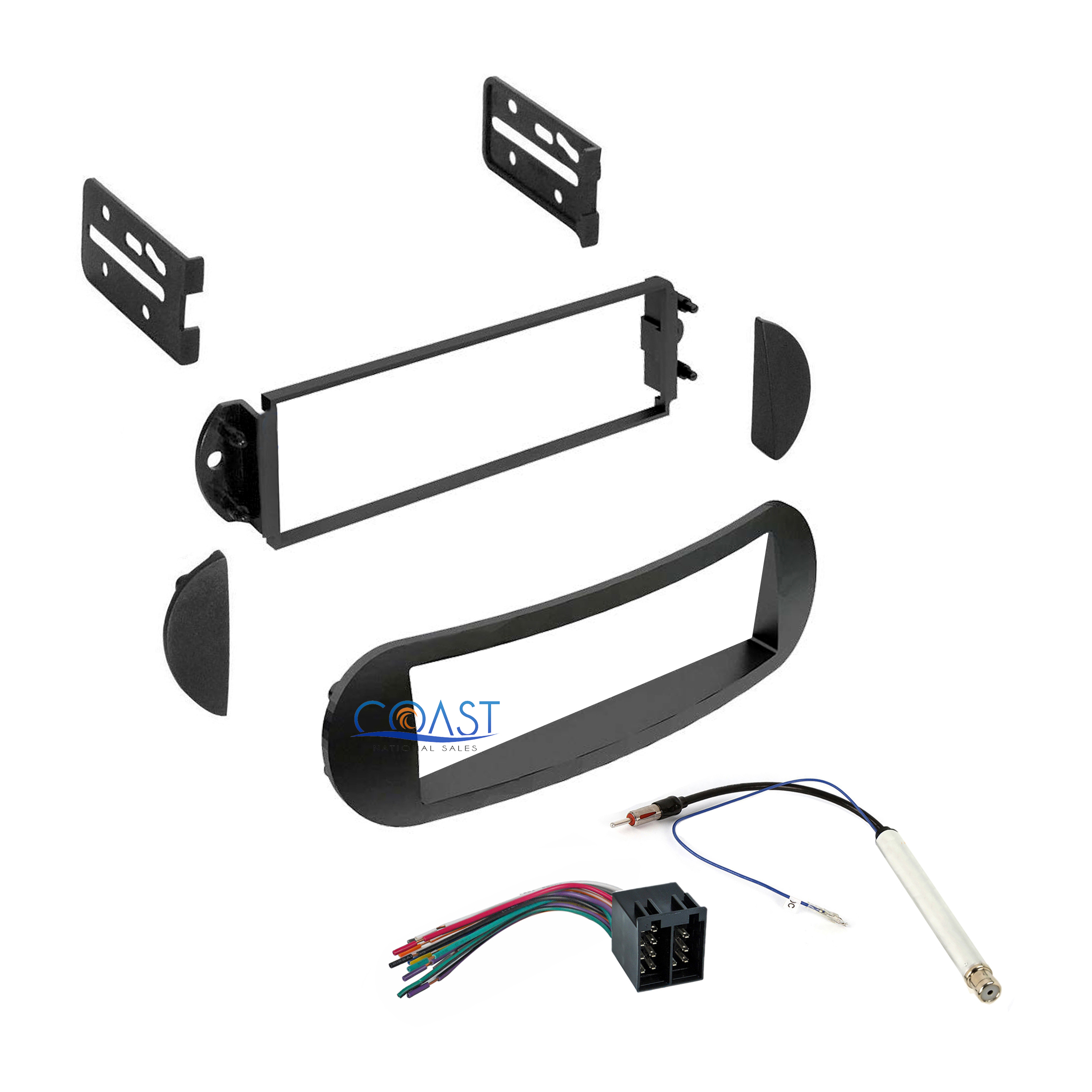 Car radio stereo single din dash kit harness for