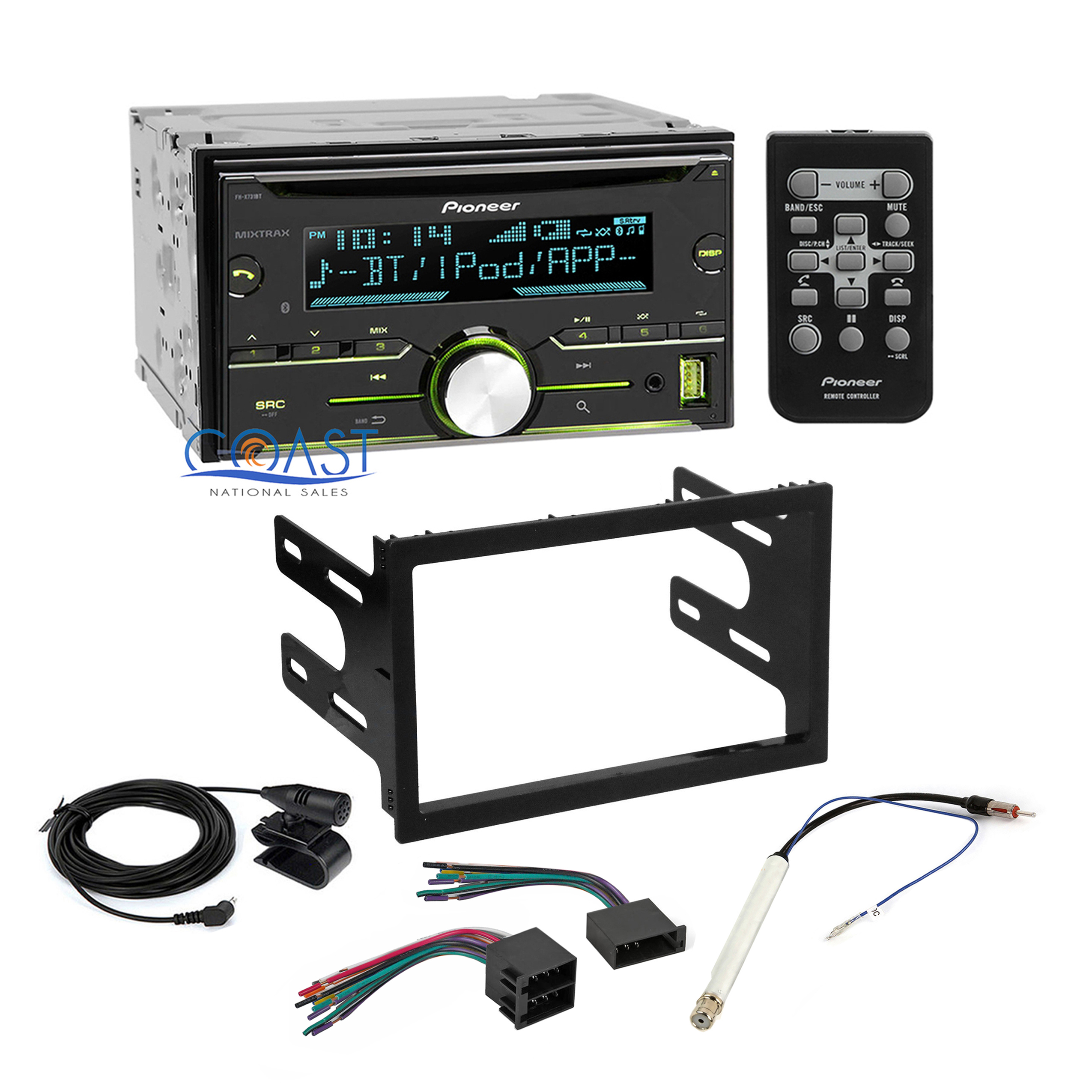 pioneer car radio stereo dash kit wire harness for 1998 02