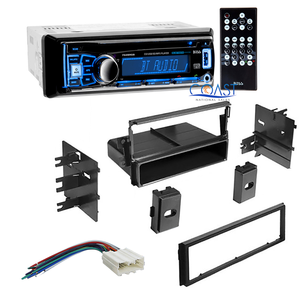 Boss Car Stereo Single Din Bluetooth Dash Kit Harness For 1995