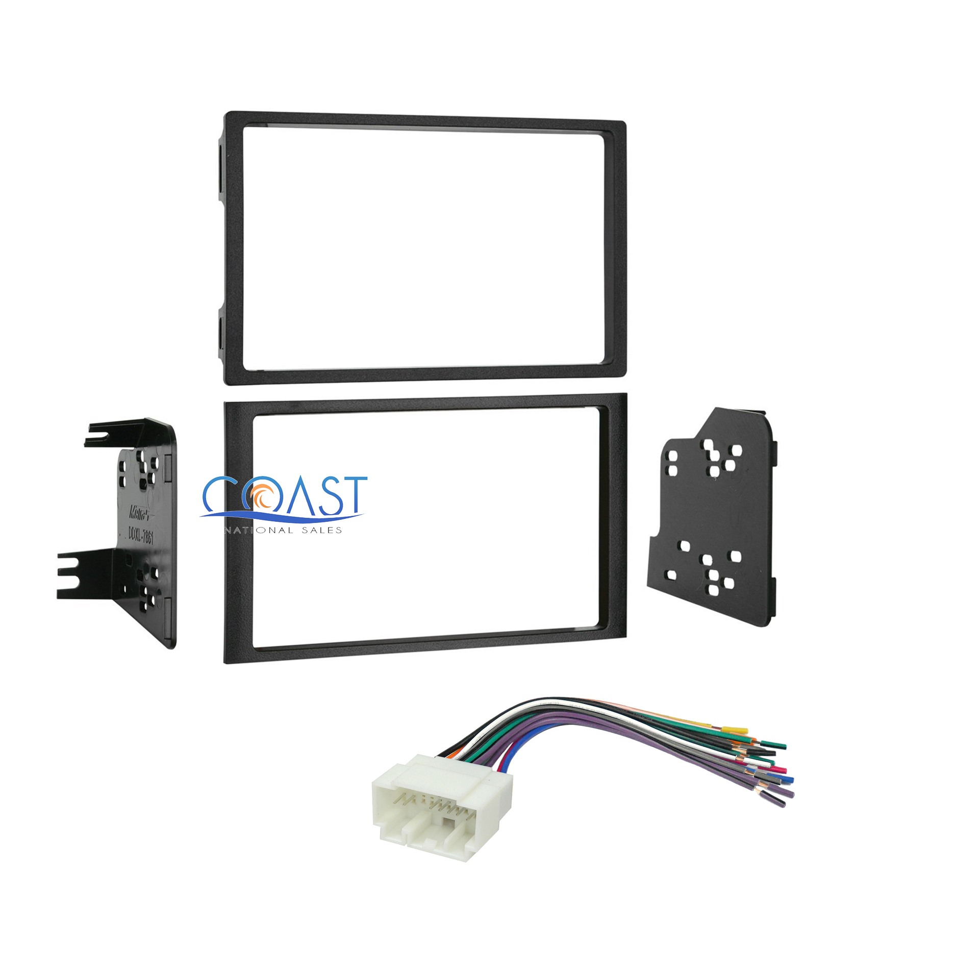 NEW 2003-2005 HONDA PILOT Car Stereo DOUBLE DIN Dash Kit Wire Harness