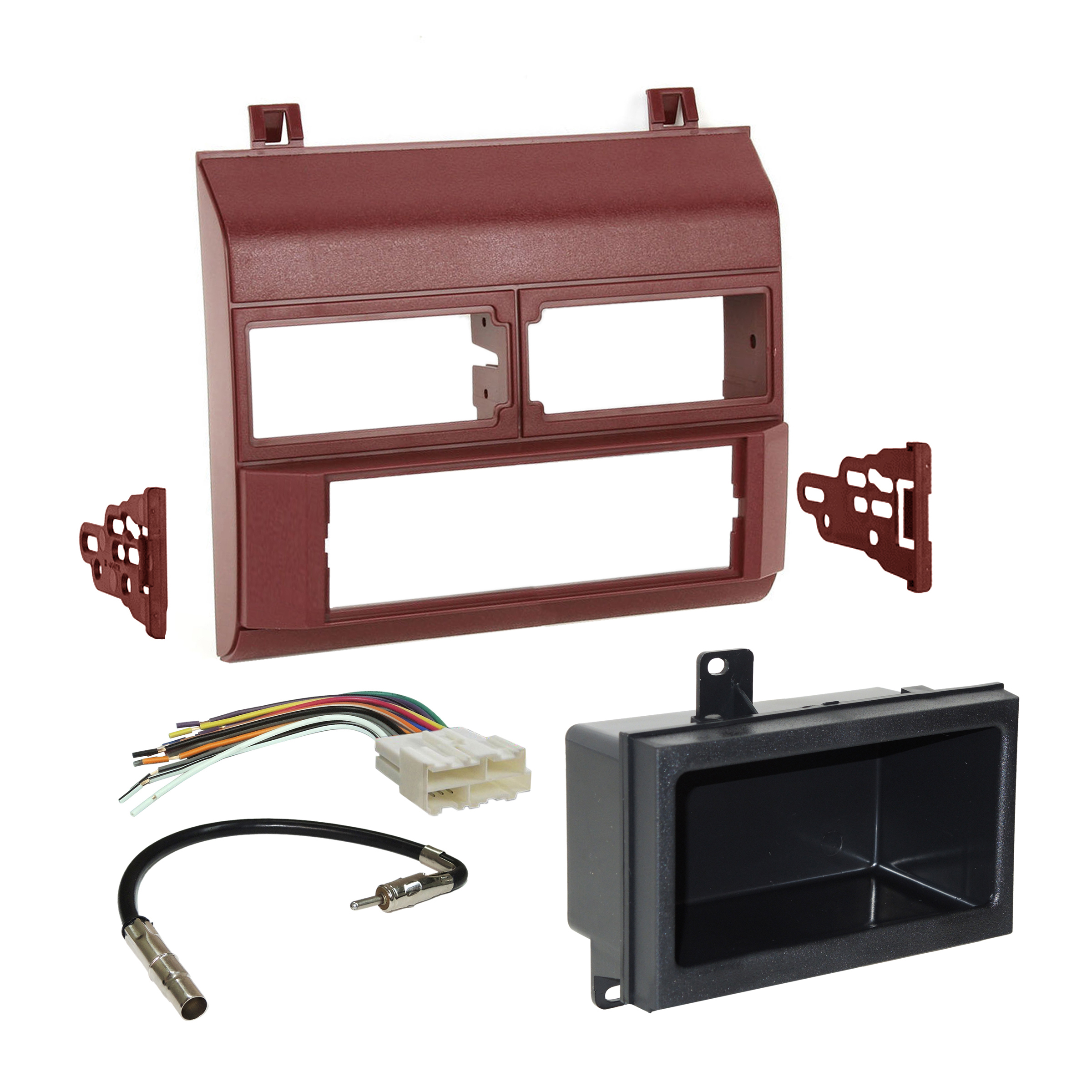 Metra Radio Stereo Burgundy Dash Kit Harness Antenna for 88-94 Chevy on pac wiring harness, scosche wiring harness, garmin wiring harness, rockford fosgate wiring harness, midland wiring harness, cobra wiring harness, yamaha wiring harness, car wiring harness, emerson wiring harness, stinger wiring harness, jbl wiring harness, eclipse wiring harness, lowrance wiring harness, pyle wiring harness, bose wiring harness, chevy wiring harness, automotive wiring harness, apc wiring harness, tripp lite wiring harness, mitsubishi wiring harness,