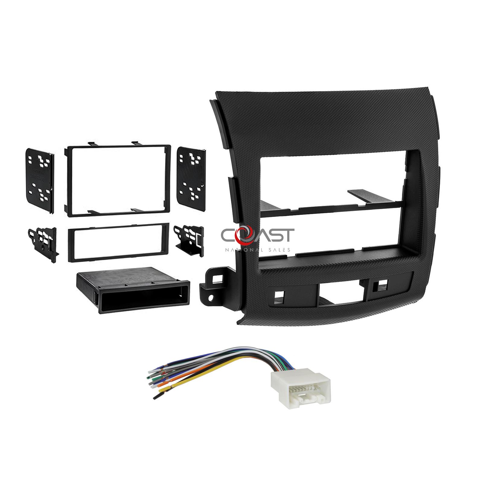 Fits Mitsubishi Outlander 07-13 Single//Double DIN Harness Radio Dash Kit