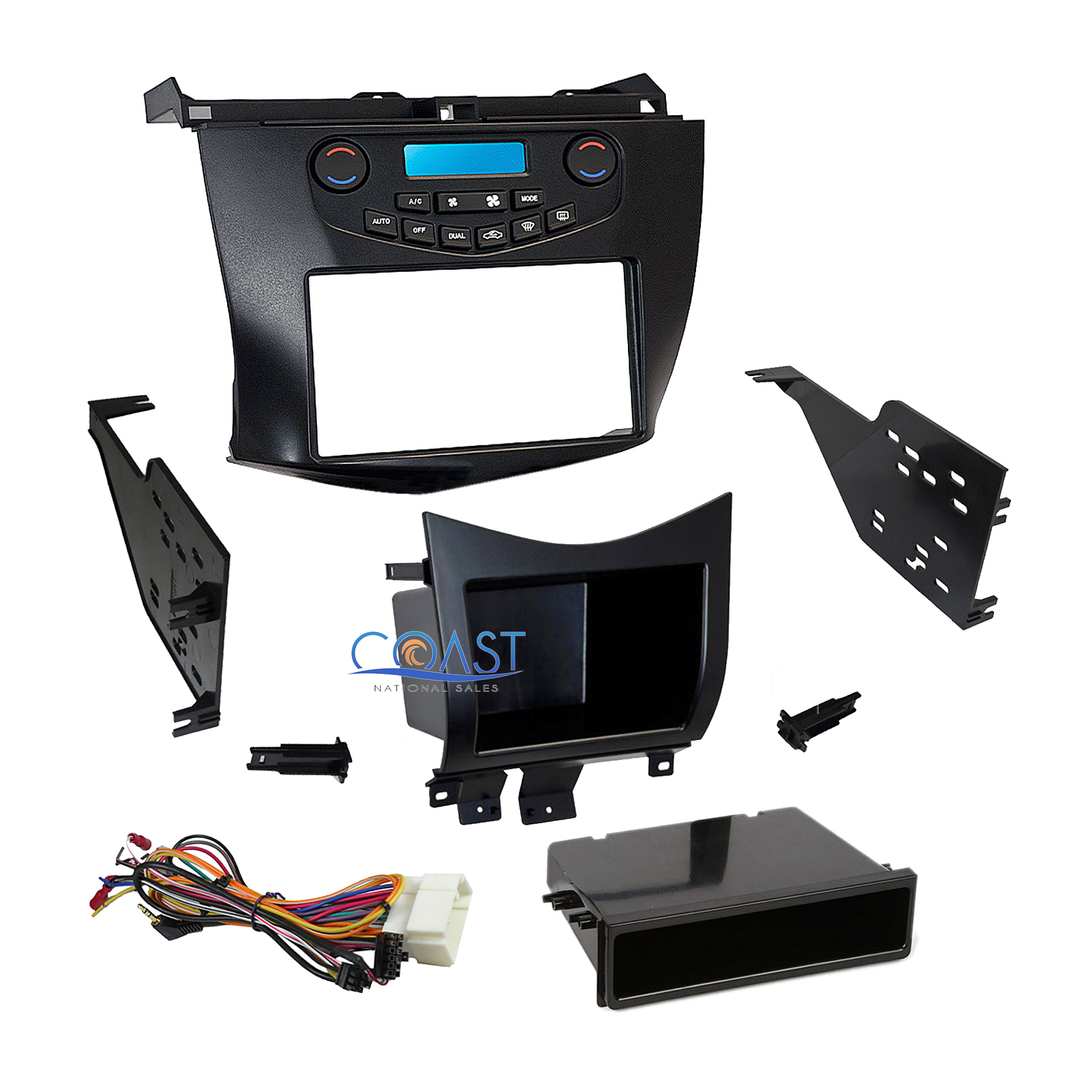 Metra Car Stereo Dash Kit Pockets Harness for 2003-2007 Honda Accord  99-7803G