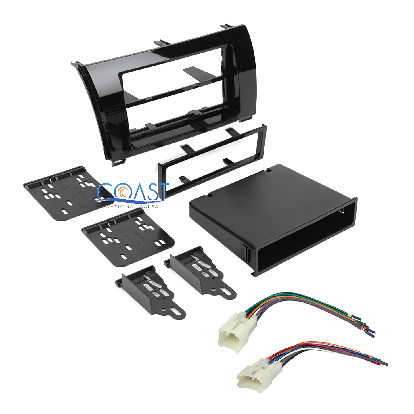 Car Radio Stereo Single Double Din Dash Kit for 2007-2013 Toyota Tundra Sequoia