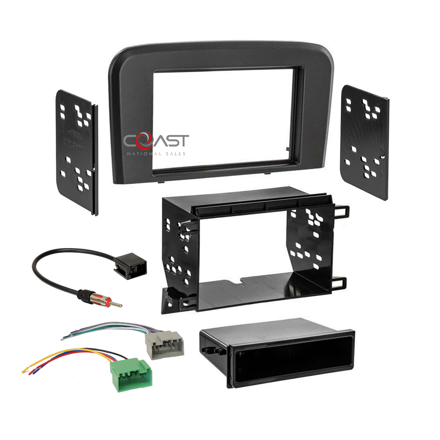 Car Radio Stereo Single Double Din Dash Kit Wire Harness for 40 ...