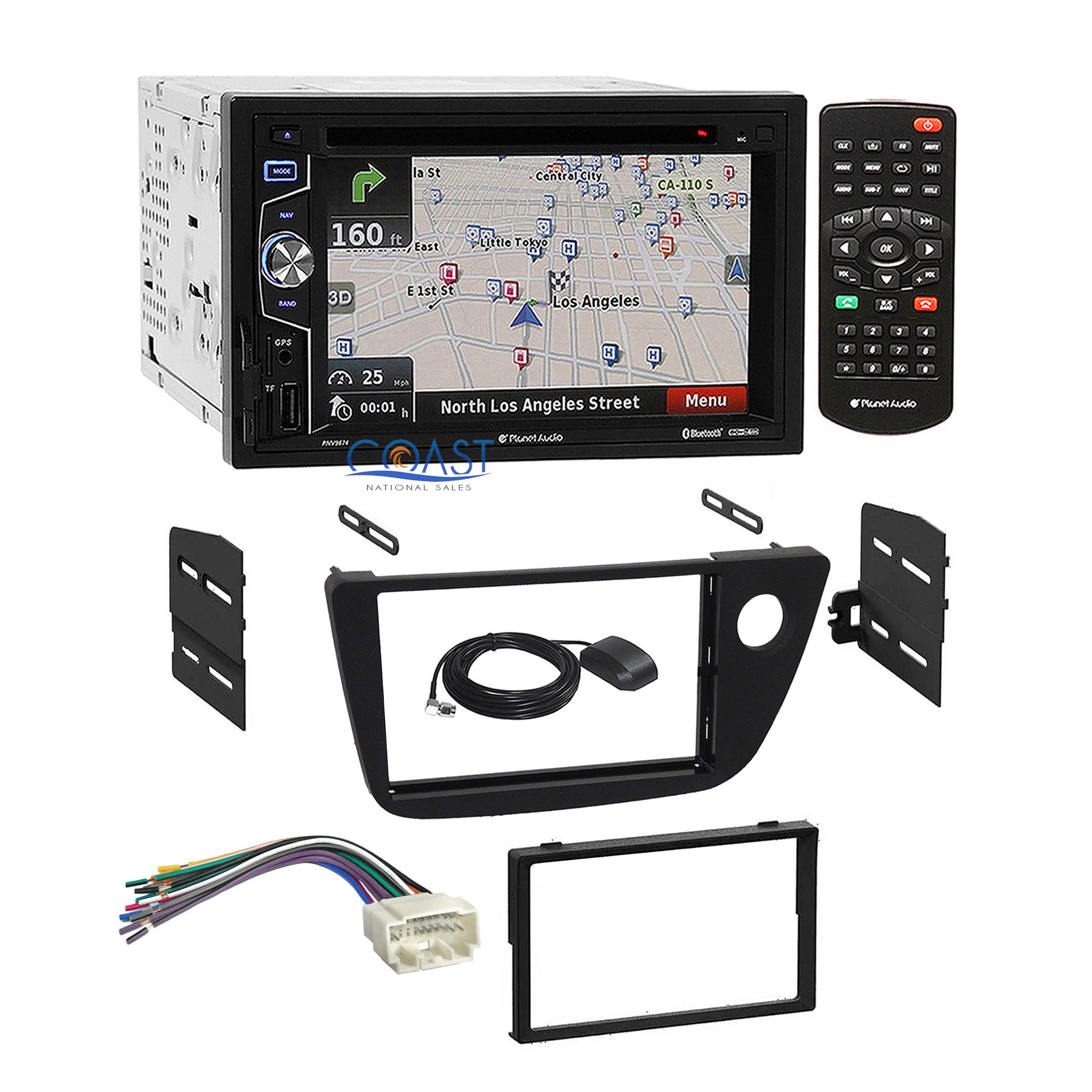 Planet Audio Radio Stereo 2-Din Dash Kit Wiring Harness