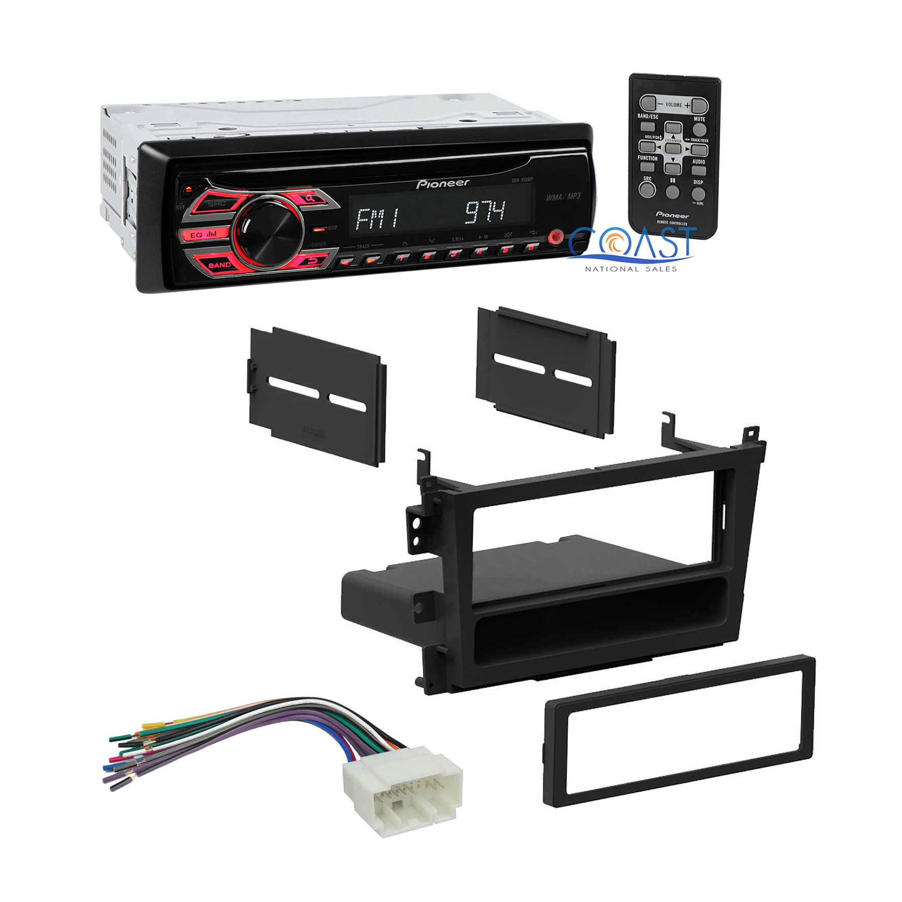 Pioneer Car Radio Stereo Single Din Dash Kit Harness For