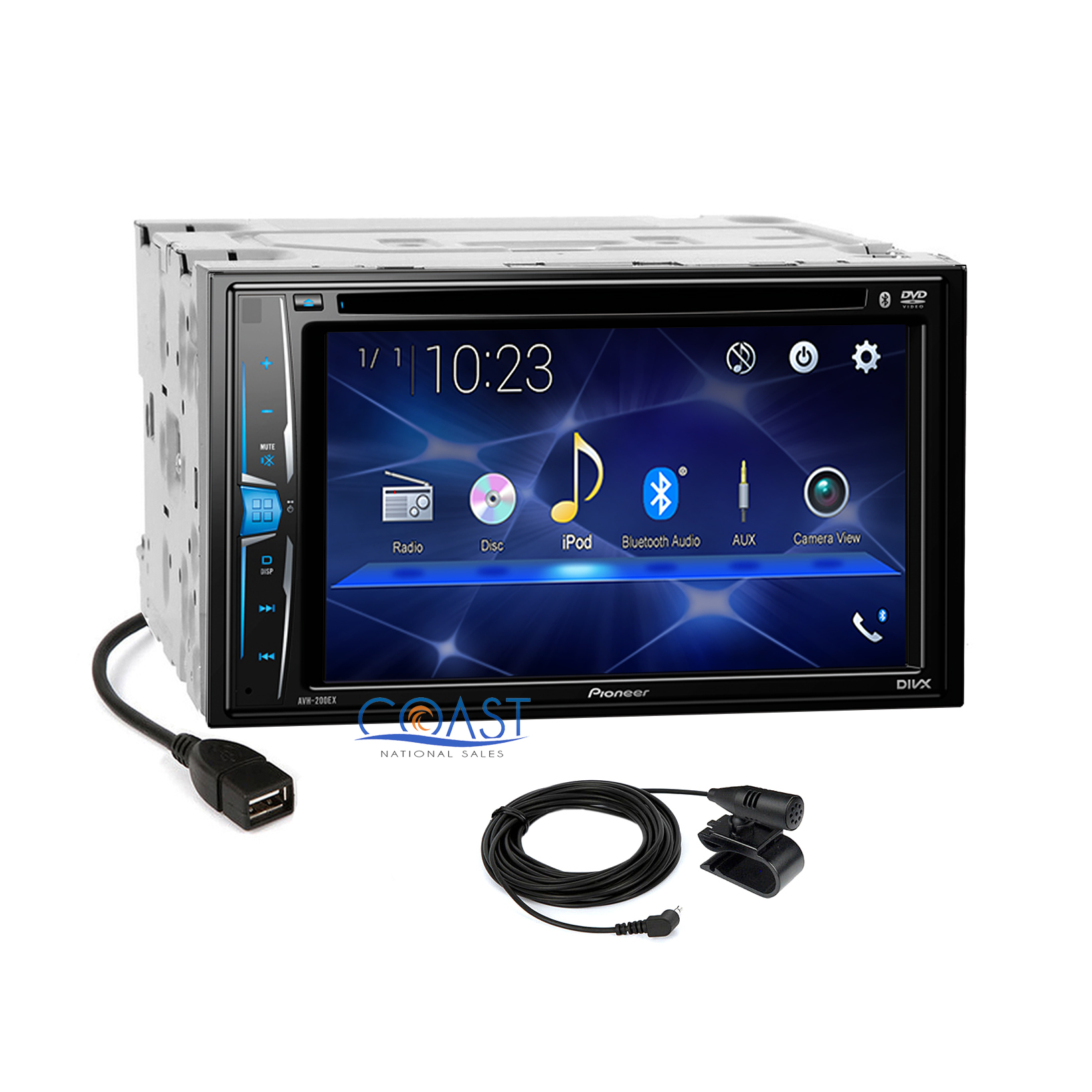 Details about Pioneer 2018 Touchscreen DVD Bluetooth Stereo Receiver  Android iPhone Support