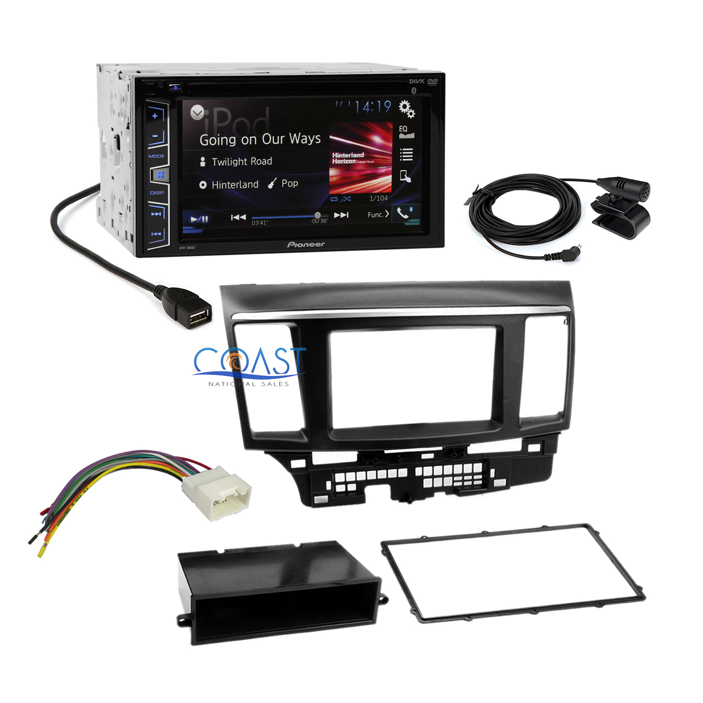 details about pioneer 2016 car radio stereo dash kit harness for 2007-13  mitsubishi lancer