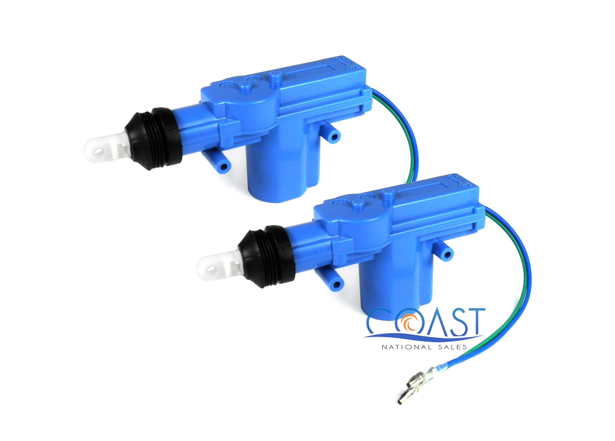 2X Universal Power Door Lock 2 Wire Actuator Kit Bullz Audio BDLA-2