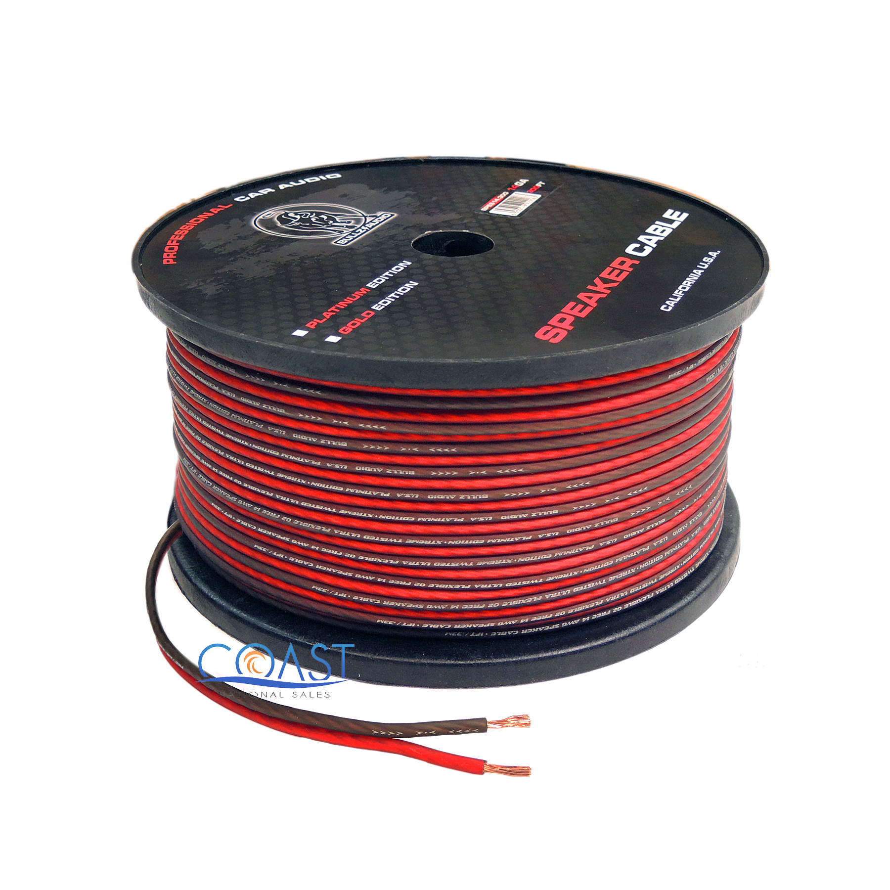 Details about Red 200 Ft True 12 Gauge AWG Car Home Audio Speaker Wire  Cable Spool BPES12 200