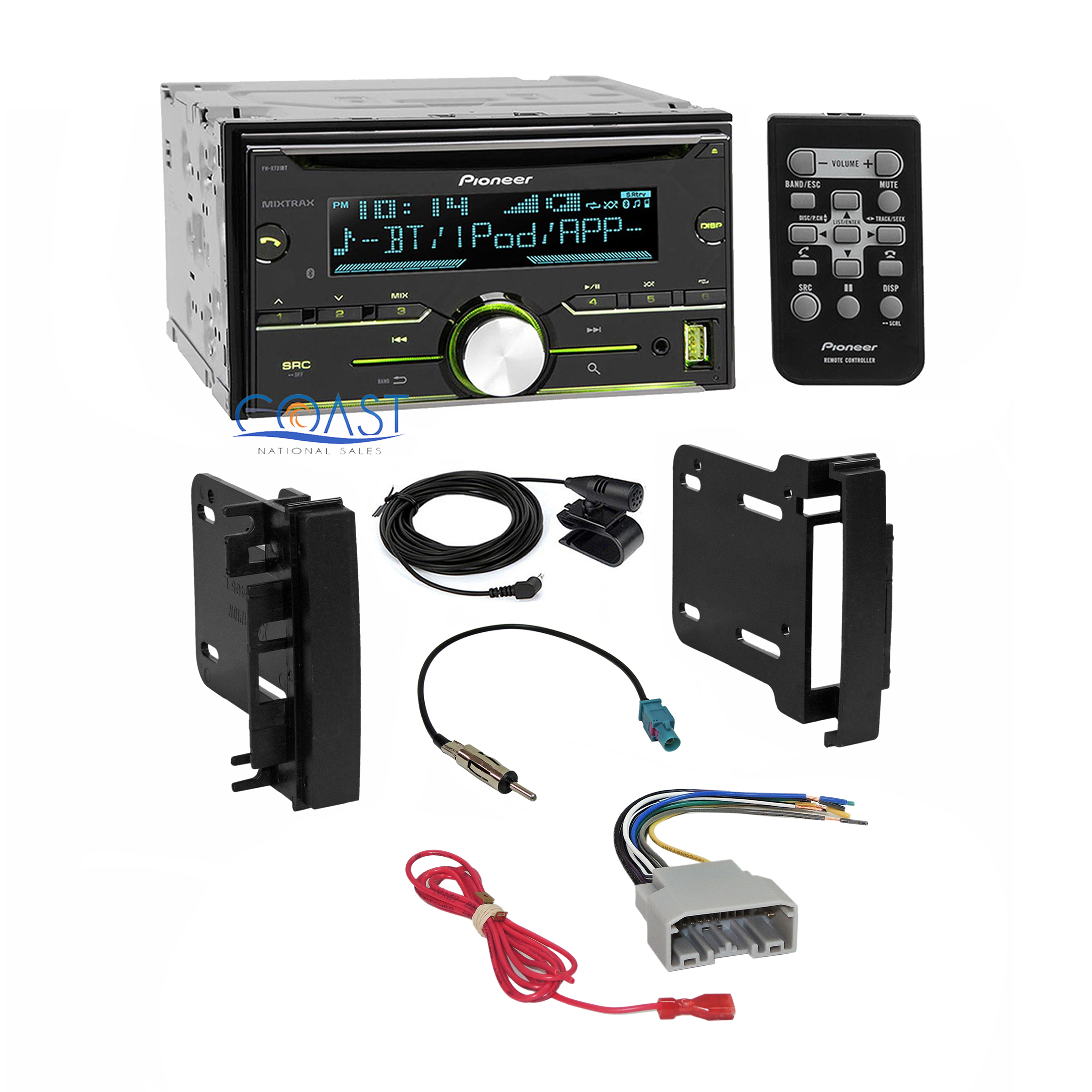 CHR K0710B+C2R CHY4+EURO A106+FH X731BT pioneer car radio stereo dash kit wire harness for 2007 14 chrysler