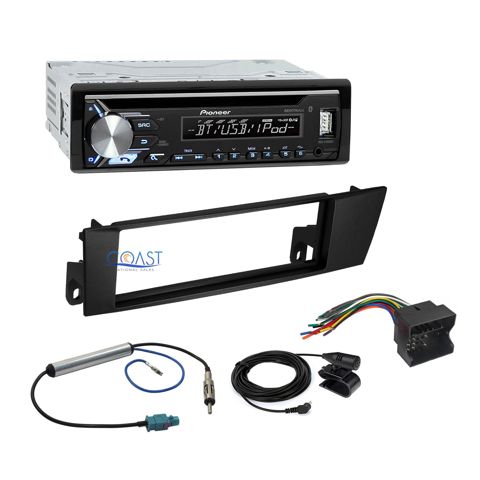 Pioneer Car Radio Stereo Single Din Dash Kit Harness for 2003-06 Dodge Sprinter