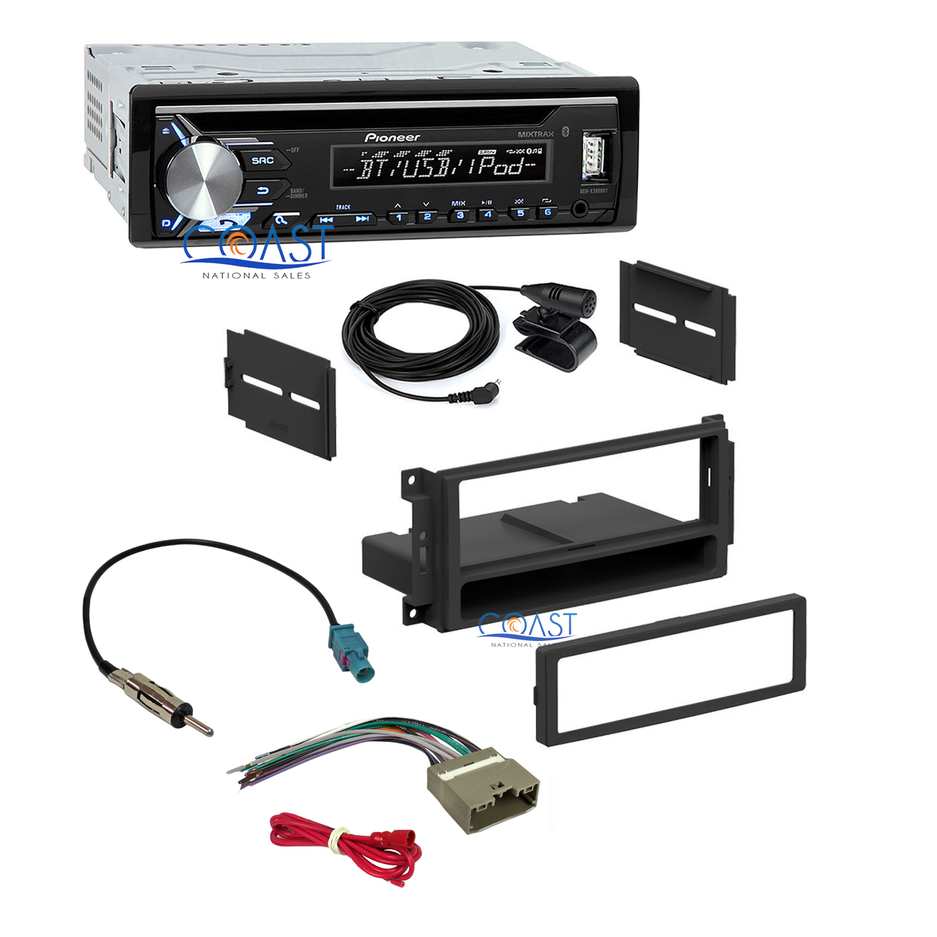 Details about Pioneer Car Stereo Bluetooth USB Dash Kit Harness for on